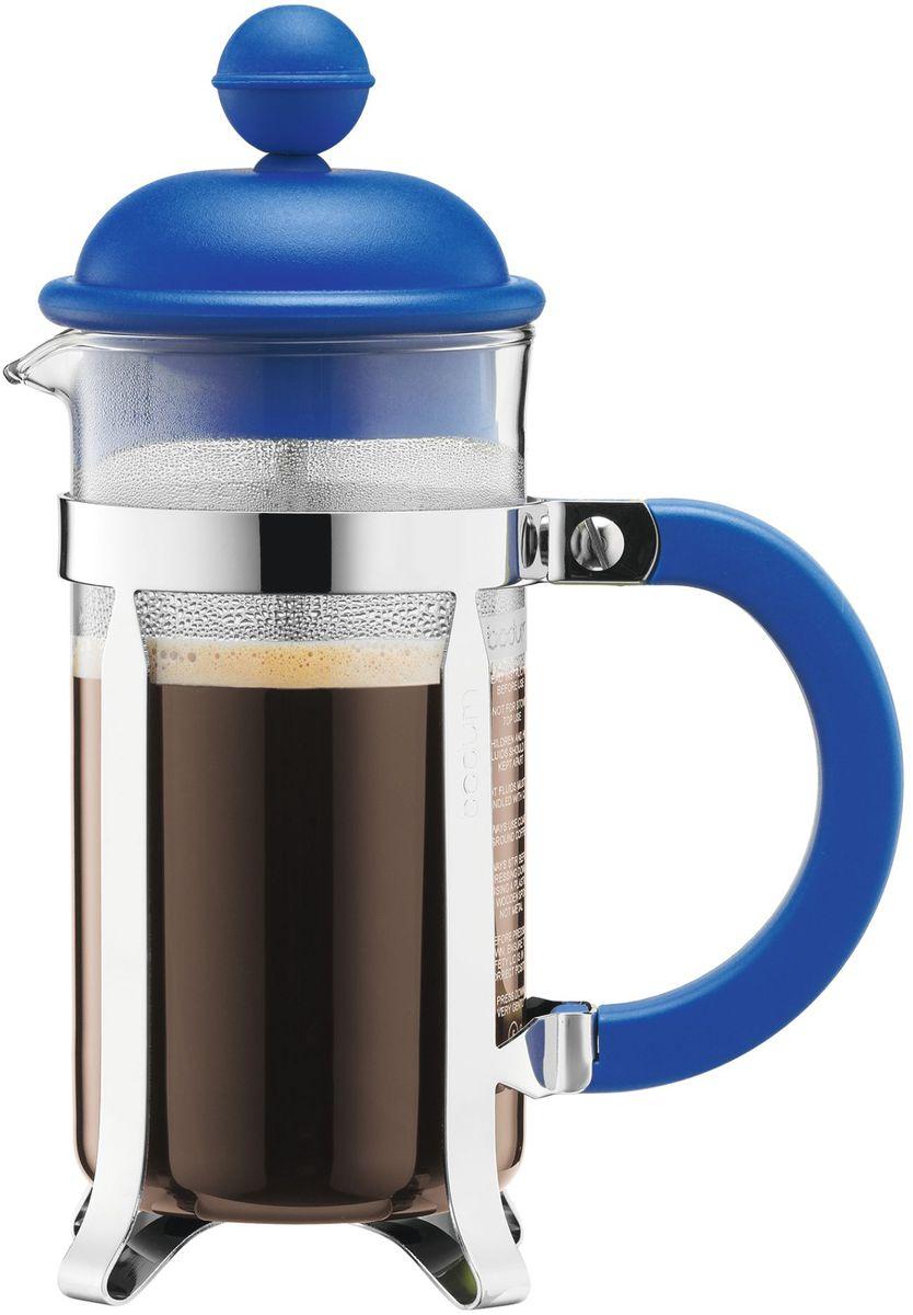 Кофейник с прессом Bodum Caffettiera, цвет: синий, 350 мл. A1913-140-Y16A1913-140-Y16