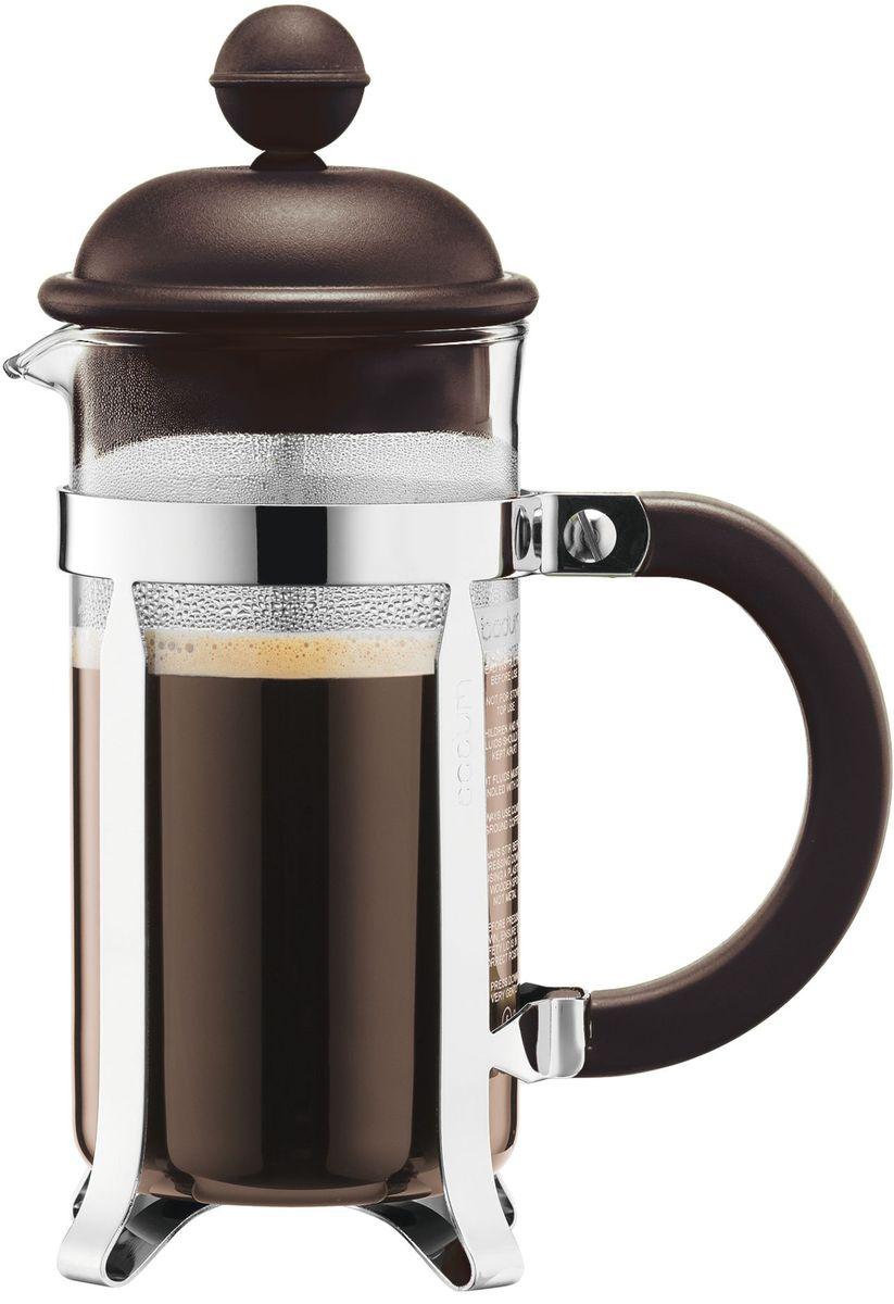 Кофейник с прессом Bodum Caffettiera, цвет: коричневый, 350 мл. A1913-618-Y16A1913-618-Y16