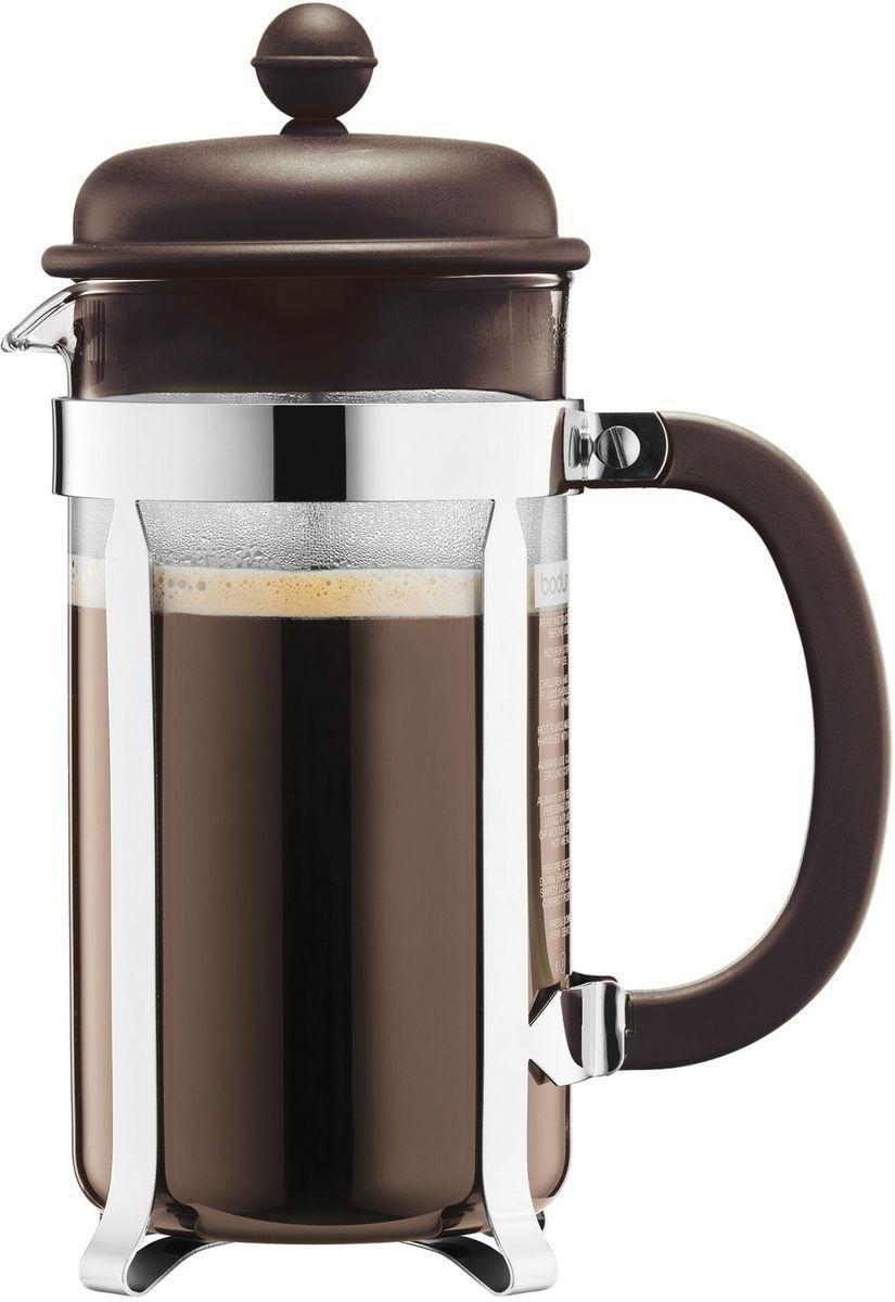 Кофейник с прессом Bodum Caffettiera, цвет: коричневый, 1 л. A1918-618-Y16A1918-618-Y16