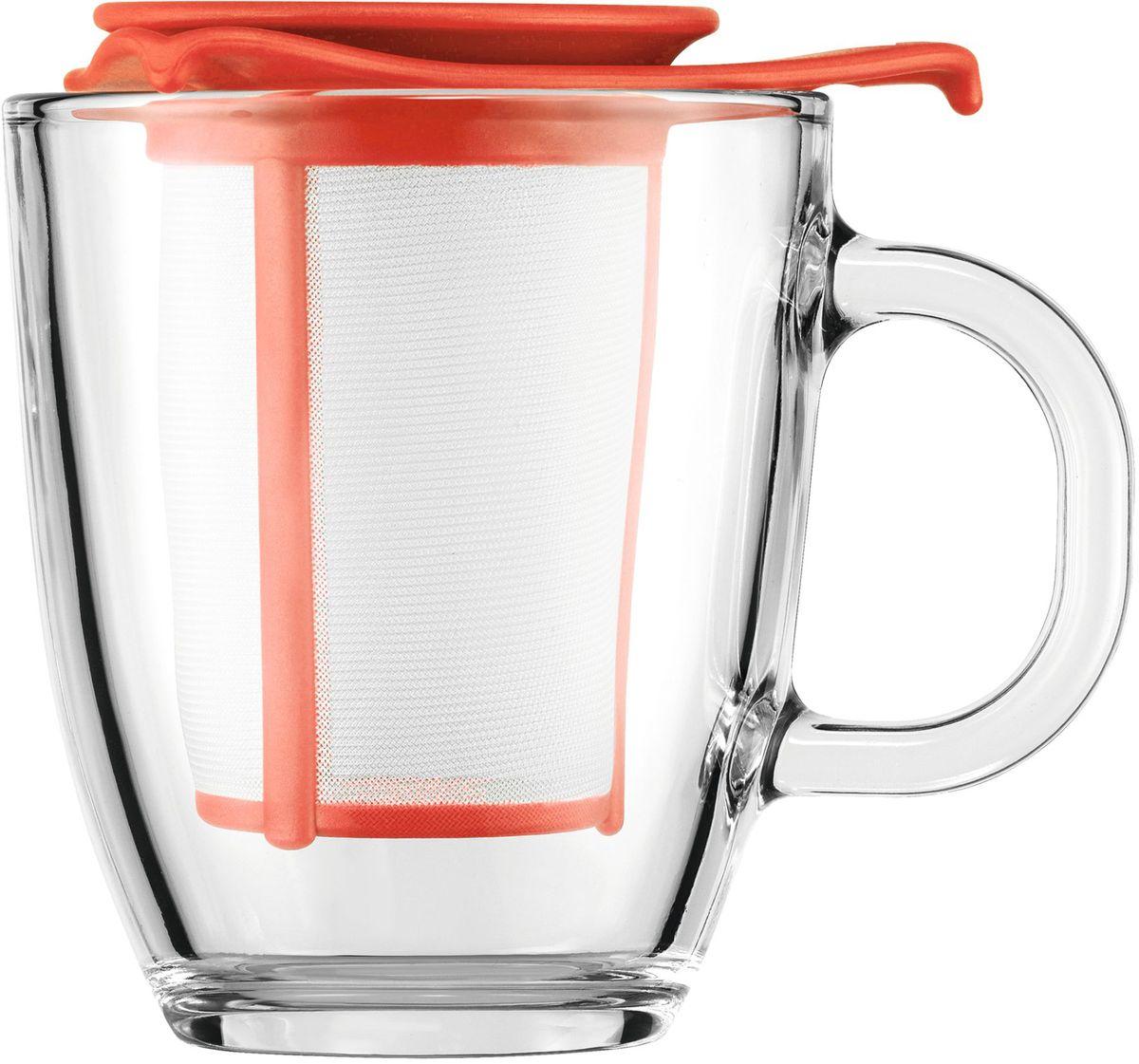Набор кружка с фильтром Bodum YO-YO, цвет: красный. AK11239-137-Y16AK11239-137-Y16