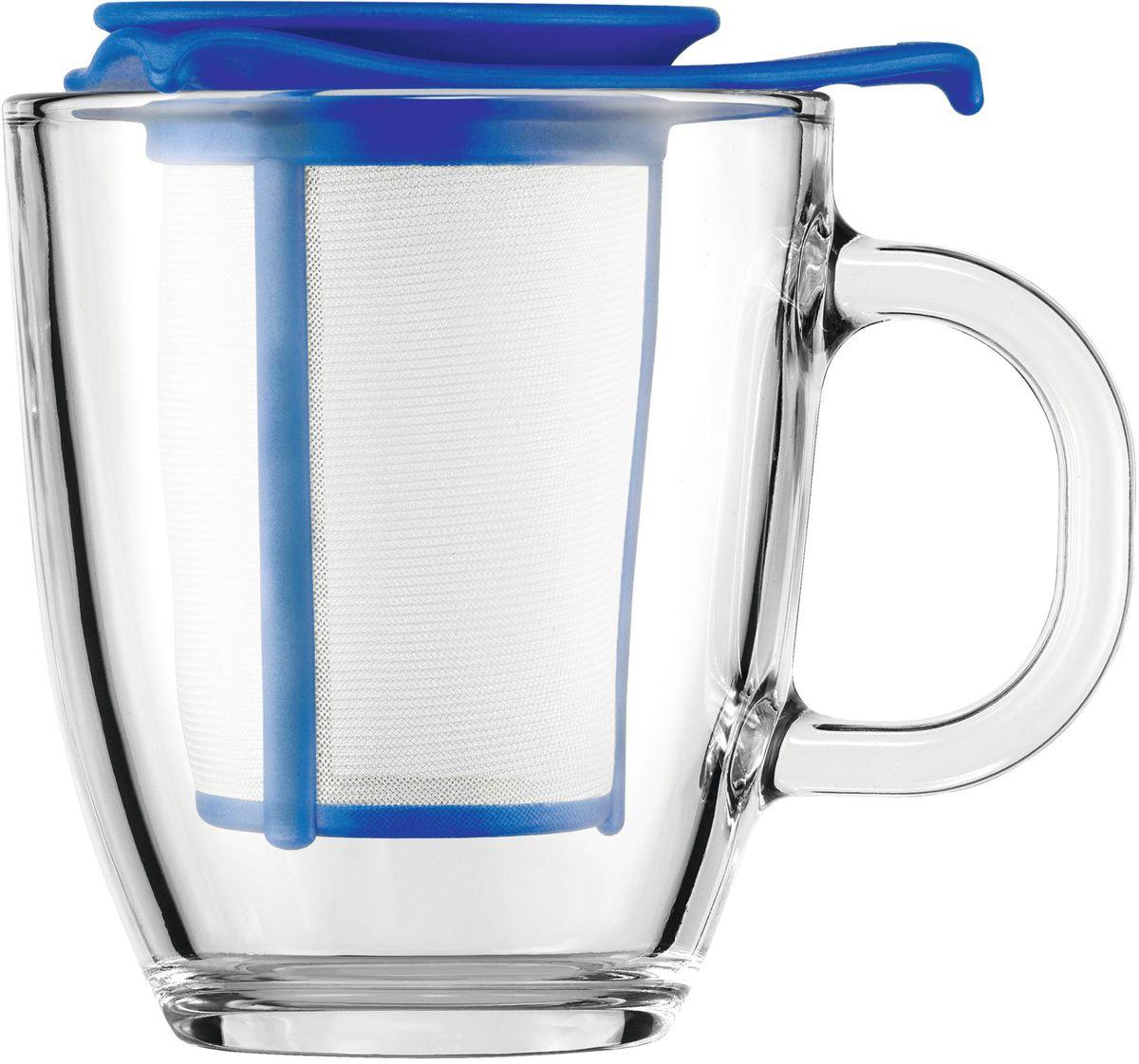 Набор кружка с фильтром Bodum YO-YO, цвет: синий. AK11239-140-Y16AK11239-140-Y16