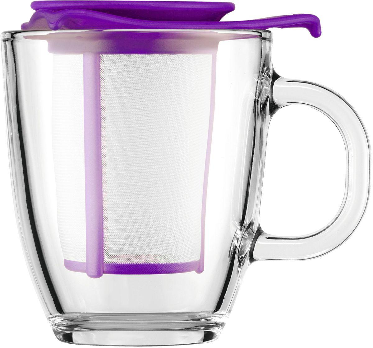 Набор кружка с фильтром Bodum YO-YO, цвет: фиолетовый. AK11239-150-Y16AK11239-150-Y16