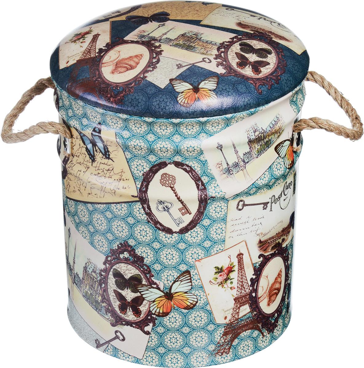 Пуфик Феникс-Презент «Бабочки», 30 х 30 х 38 см  пуфики мешки недорого в москве