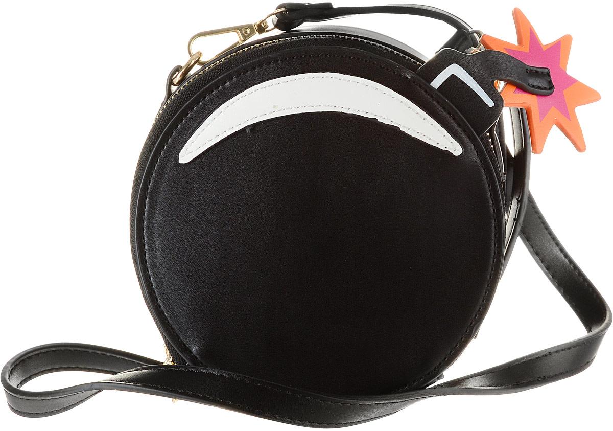 Сумка женская Kawaii Factory Бомба, цвет: черный. KW100-000225KW100-000225Женская сумка Kawaii Factory Бомба выполнена из полиуретана и оснащена застежкой-молнией. Внутренний объем позволяет вместить в аксессуар все необходимое. Модель имеет одно основное отделение. Внутри имеется прорезной кармашек на застежке-молнии и один накладной карман. В комплекте съемный плечевой ремень, который регулируется по длине.
