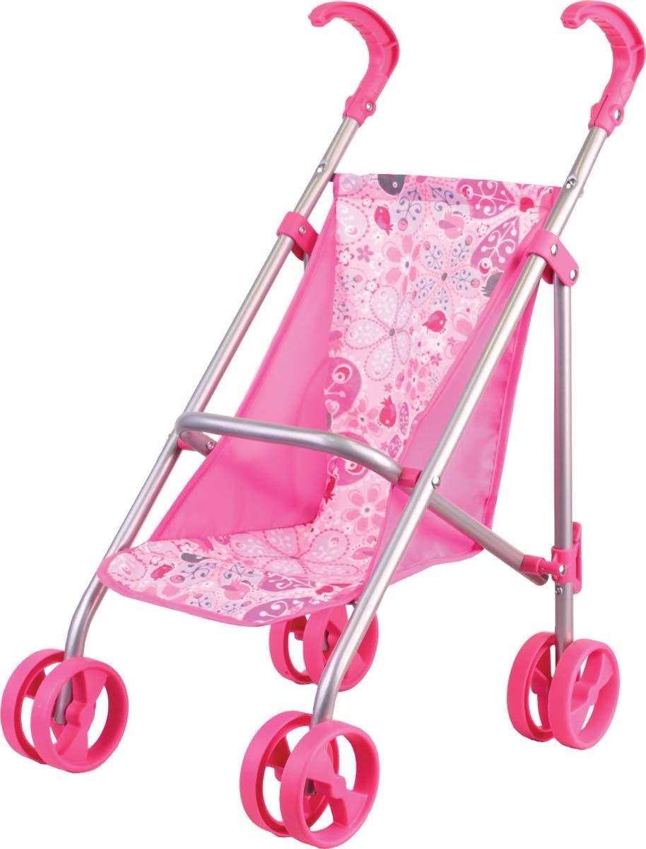 Gulliver Коляска прогулочная классическая цвет розовый22-11005