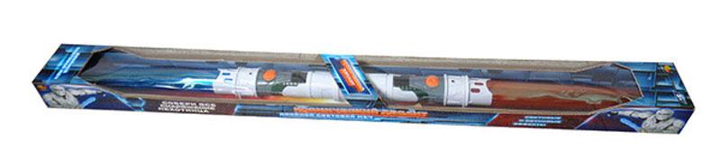 ABtoys Двойной световой меч Космический десантC-00171/DQ-2219Двойной световой меч ABtoys Космический десант, изготовленный из пластика, обладает световыми и звуковыми эффектами. С одной стороны детское оружие имеет синее лезвие, а с другой - красное. Меч космического десантника внешне похож на световой меч из мегапопулярной саги Star Wars, что понравится поклонниками этого фильма. Необходимо купить 4 батарейки напряжением 1,5V типа АА (не входят в комплект).