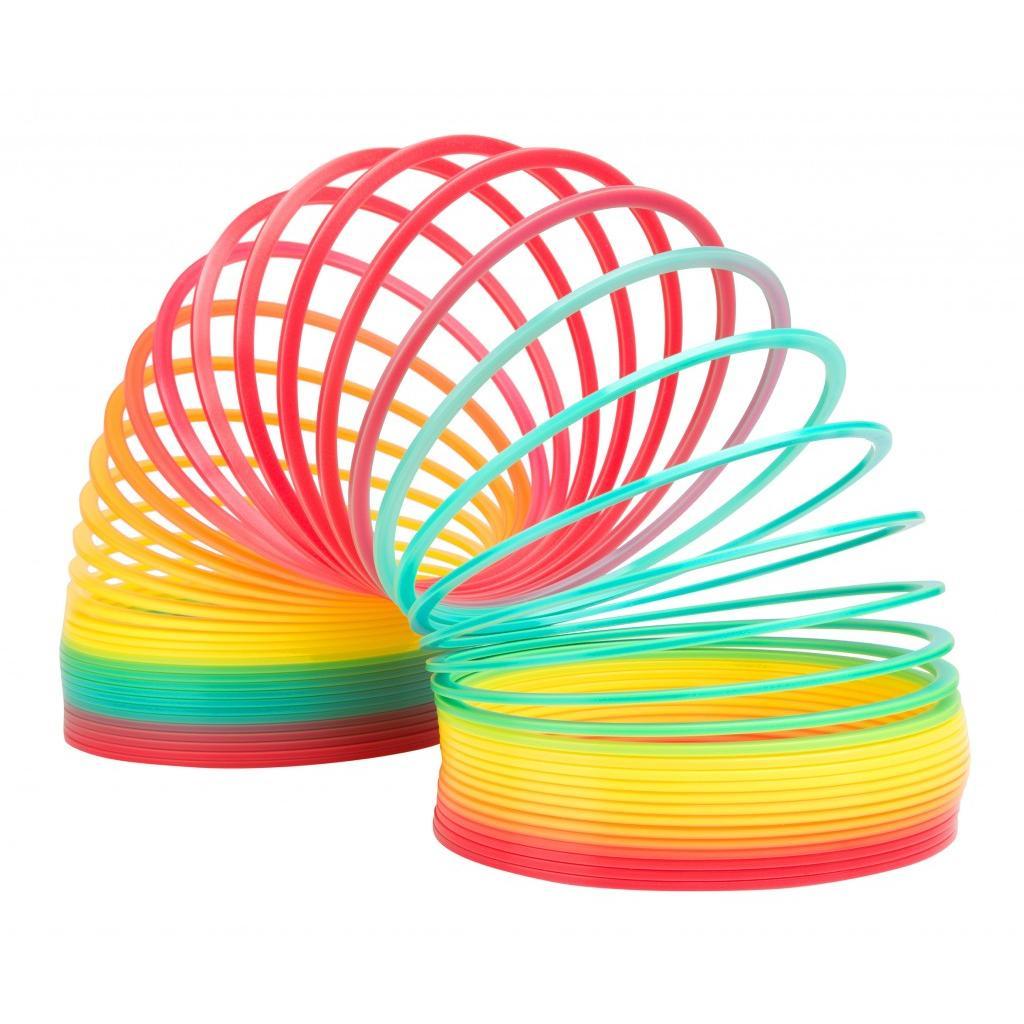 Slinky Антистрессовая игрушка Пружинка Радуга ГигантСЛ702000-3Самая большая пружинка Слинки из когда-либо выпускавшихся - ее диаметр 13см. Никакой окраски - игрушка сделана из пластика разных цветов. Цвета расположены в правильном порядке радуги. Помните знаменитую фразу: Каждый Охотник Желает Знать Где Сидит Фазан? Шагает по большим ступеням, например по лестнице в доме. Когда пружинка шагает цвета гармонично переливаются из одного в другой - как в настоящей радуге! Эту пружинку ещё сложнее запутать. Увеличенный размер позволяет запускать игрушку с большой высоты - например, со стола или с тумбы. Вот тут ей не будет равных. Масштабные трюки, которые не удавались с обычными пружинками Slinky (пусть даже металлическими!) теперь 100% получатся! Made in USA.