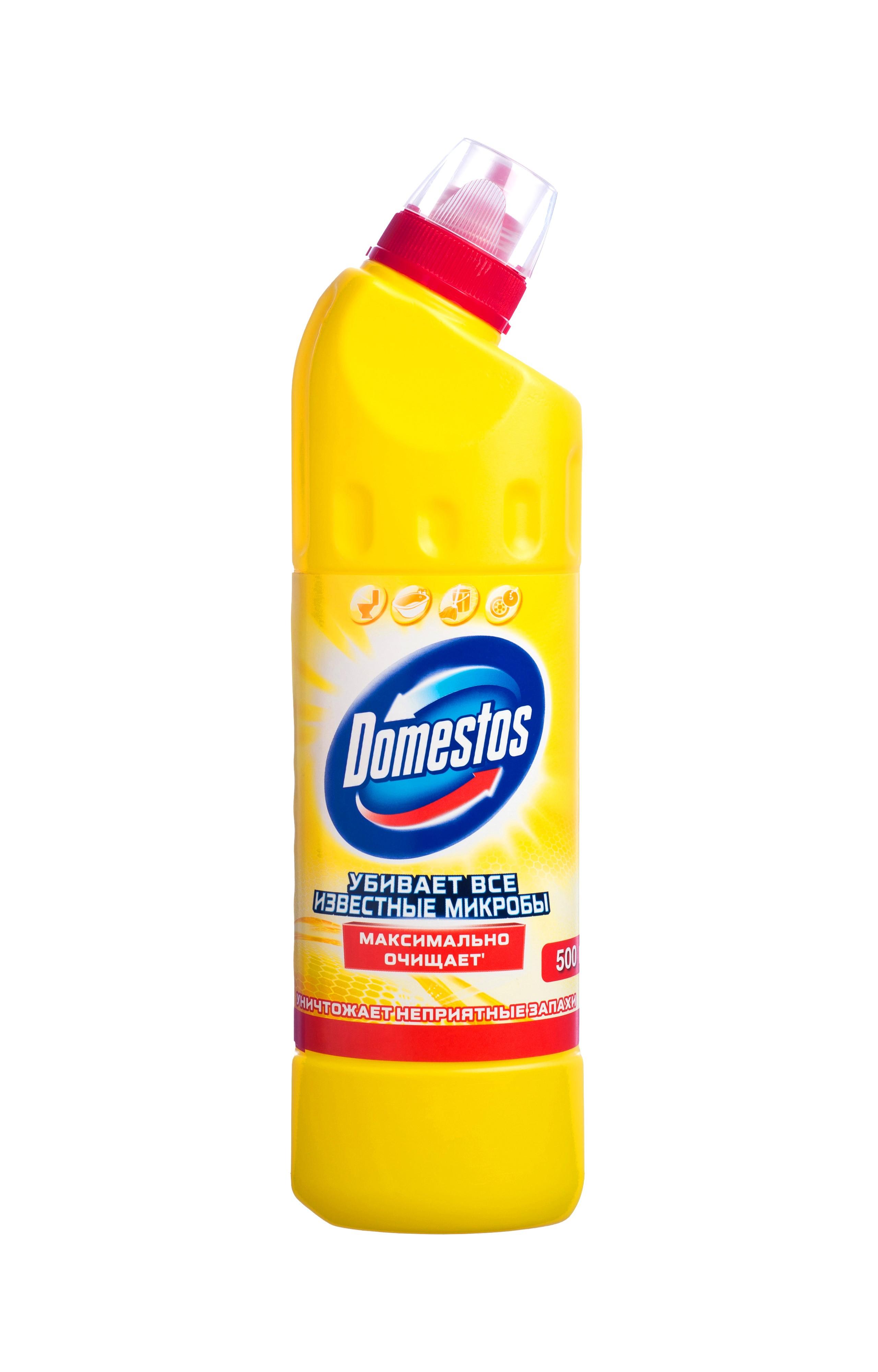 Domestos Двойная сила Чистящее и дезинфицирующее средство Универсальное Лимонная свежесть 500 мл