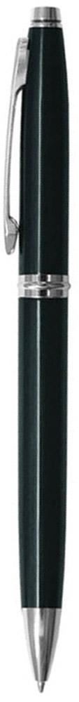 Berlingo Ручка шариковая Silver Classic цвет корпуса черныйCPs_70441Классическая автоматическая шариковая ручка Berlingo Silver Classic с поворотным механизмом. Клип, наконечник и кольцо выполнены из металла. Цвет чернил - синий. Диаметр пишущего узла - 0,7 мм. Подходит для нанесения логотипа. Ручка упакована в индивидуальный пластиковый футляр.