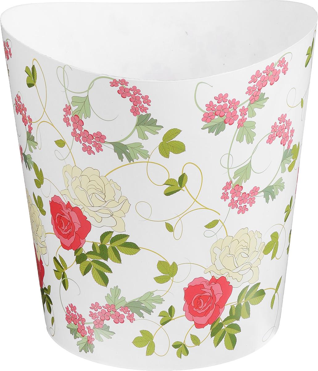 Корзина для бумаг Idea Деко. Розы, 28 х 25 х 27 смМ 2498Корзина Idea Деко. Розы выполнена из высококачественного полипропилена и предназначена для сбора мелкого мусора и бумаг. Корзина имеет современный эргономичный дизайн. Удобная компактная корзина прекрасно впишется в интерьер гостиной, спальни, офиса или кабинета. Размер корзины: 25 х 26 х 28 см.
