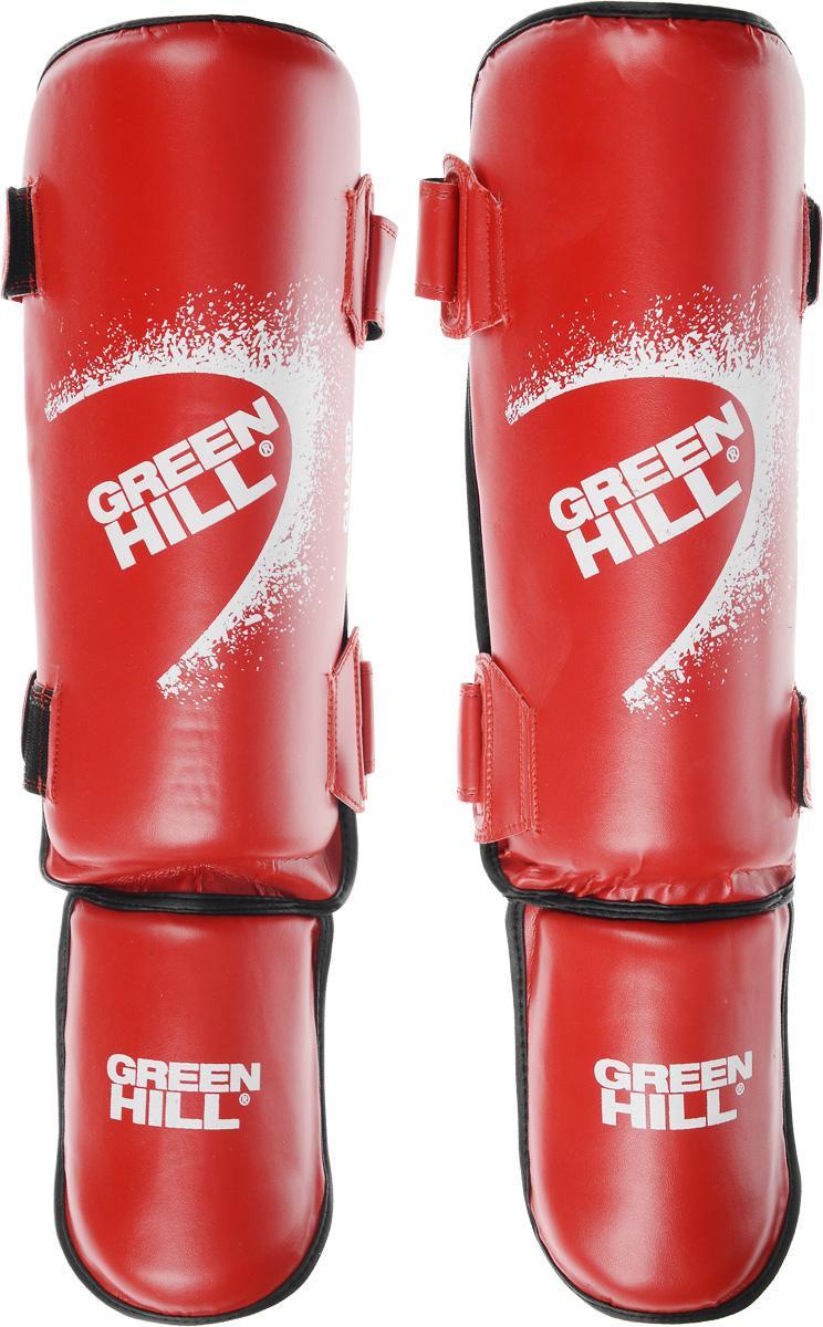 Защита голени и стопы Green Hill Guard, цвет: красный, белый. Размер L. SIG-0012SIG-0012Защита голени и стопы Green Hill Guard с наполнителем, выполненным из вспененного полимера, необходима при занятиях спортом для защиты пальцев и суставов от вывихов, ушибов и прочих повреждений. Накладки выполнены из высококачественной искусственной кожи. Они прочно фиксируются за счет эластичной ленты и липучек. Удобные и эргономичные накладки Green Hill Guard идеально подойдут для занятий тхэквондо и другими видами единоборств. Длина голени: 38 см. Ширина голени: 14 см. Длина стопы: 18 см. Ширина стопы: 12 см.