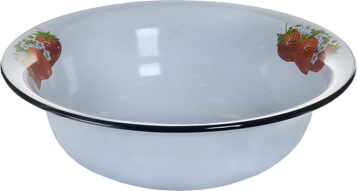 Таз КМК, 12 л. 43004-242/443004-242/4Таз КМК изготовлен из высококачественной стали с эмалированным покрытием. Применяется во время стирки или для хранения различных вещей. По внутреннему краю таз украшен изображением клубники. Диаметр (по верхнему краю): 45 см. Высота стенки: 13 см.