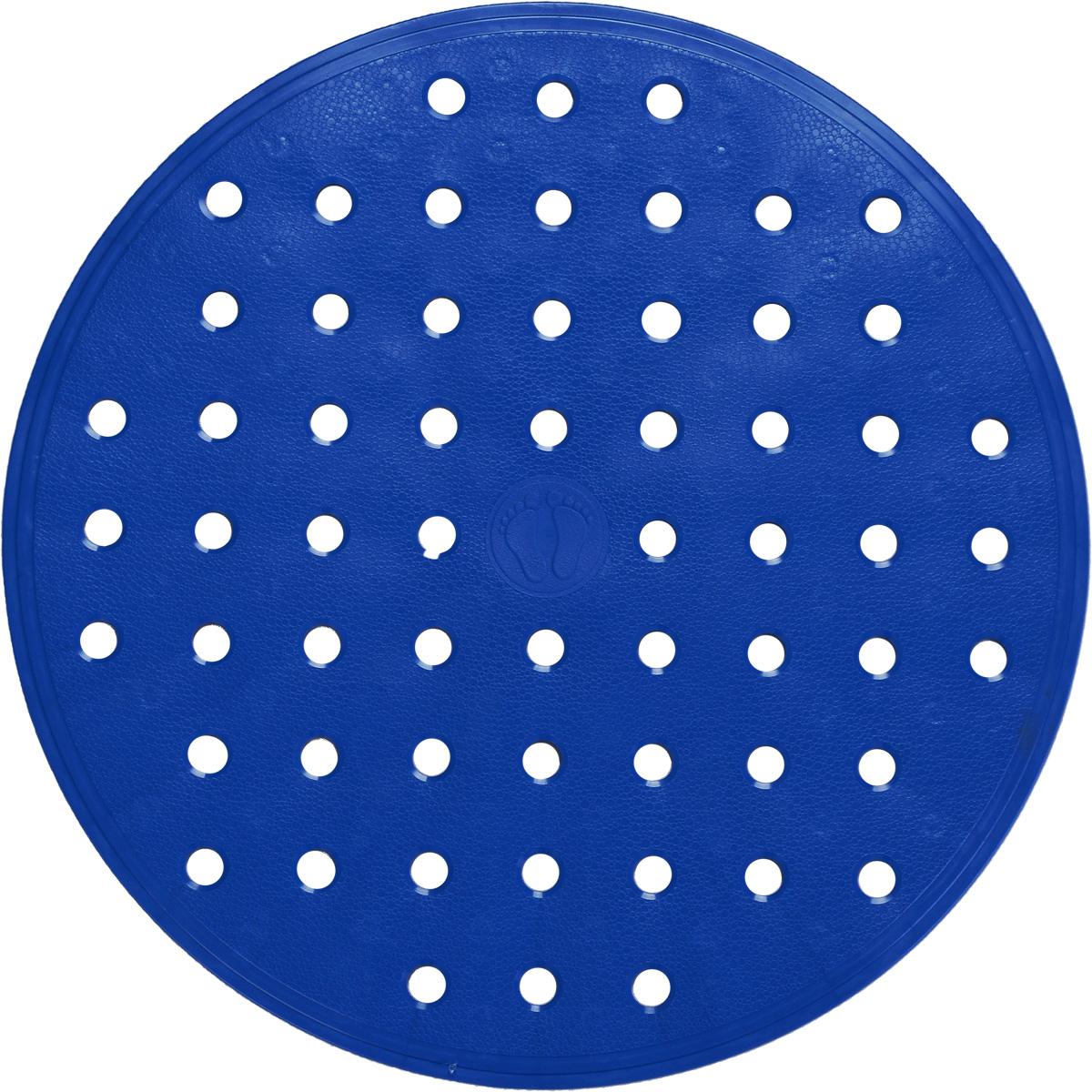 Коврик для ванной Ridder Action, противоскользящий, цвет: синий, диаметр 53 см коврик для ванной ridder park противоскользящий на присосках цвет бежевый 54 х 54 см