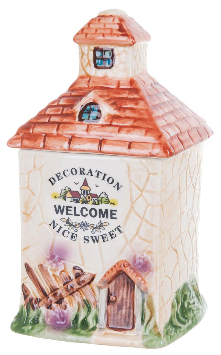 Банка для сыпучих продуктов ENS Group Дом, милый дом, 650 мл0790027Банка для сыпучих продуктов изготовлена из высококачественной керамики. Изделие оформлено красочным изображением в виде домика. Банка прекрасно подойдет для хранения различных сыпучих продуктов: чая, кофе, сахара, соли. Изящная емкость не только поможет хранить разнообразные сыпучие продукты, но и стильно дополнит интерьер кухни. Можно использовать в посудомоечной машине.
