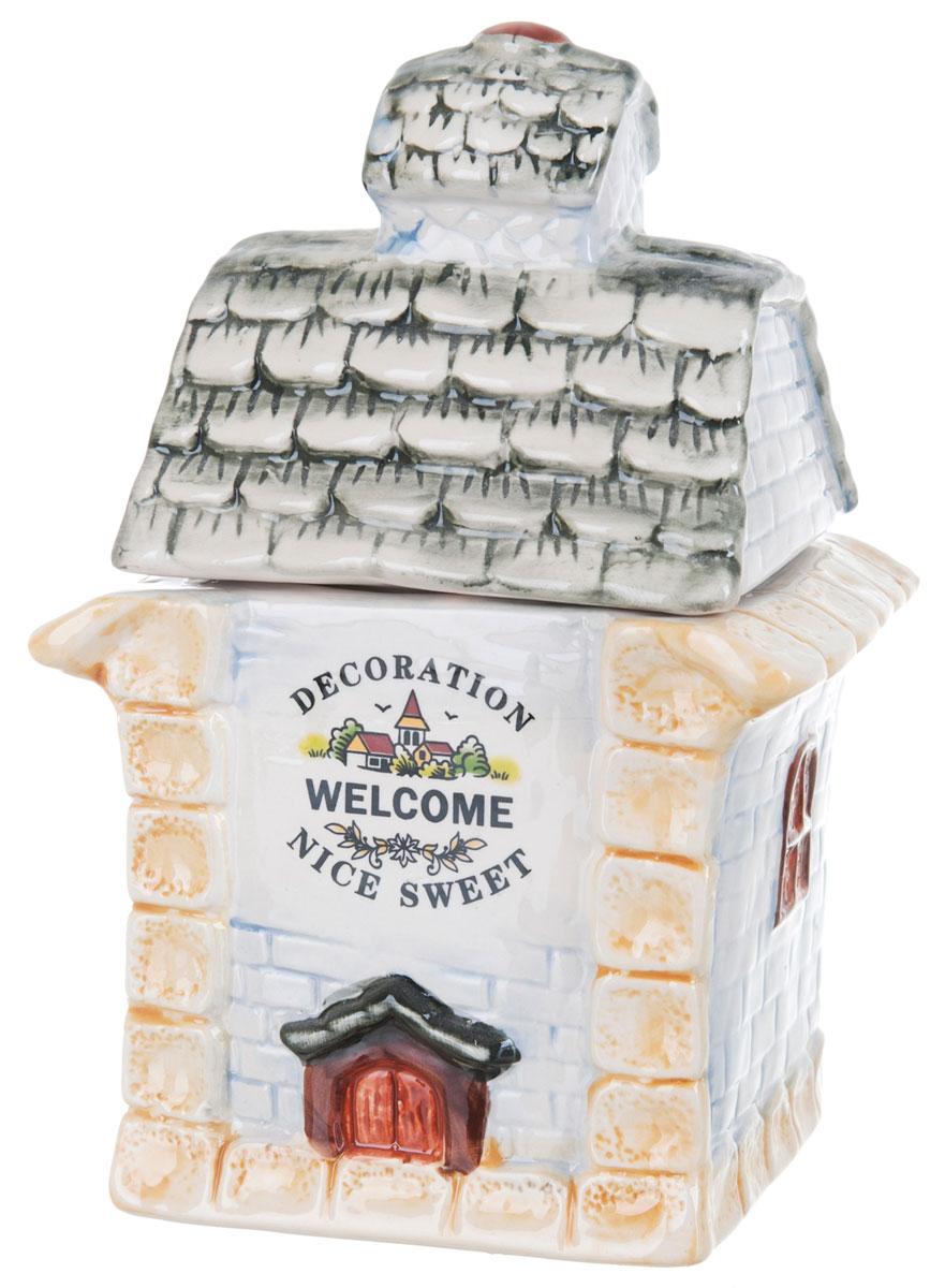 Банка для сыпучих продуктов ENS Group Дом, милый дом, 1 л0790028Банка для сыпучих продуктов изготовлена из высококачественной керамики. Изделие оформлено красочным изображением в виде домика. Банка прекрасно подойдет для хранения различных сыпучих продуктов: чая, кофе, сахара, соли. Изящная емкость не только поможет хранить разнообразные сыпучие продукты, но и стильно дополнит интерьер кухни. Можно использовать в посудомоечной машине.