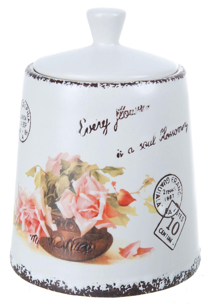 Банка для сыпучих продуктов ENS Group Чайная роза, 800 мл1750159Банка для сыпучих продуктов изготовлена из высококачественной керамики. Изделие оформлено красочным изображением. Банка прекрасно подойдет для хранения различных сыпучих продуктов: чая, кофе, сахара, круп и многого другого. Изящная емкость не только поможет хранить разнообразные сыпучие продукты, но и стильно дополнит интерьер кухни.