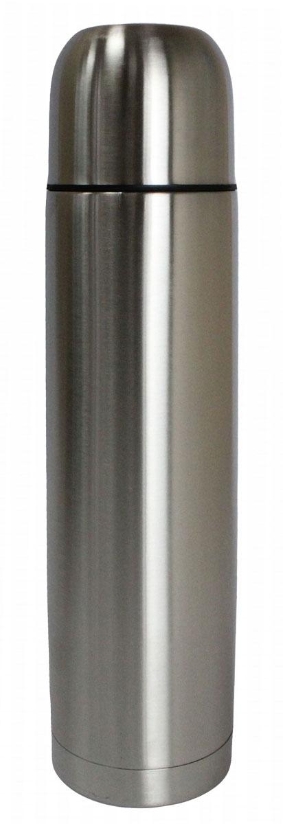 Термос Vetta Булет, 1 л841028Термос Vetta 1000 мл, изготовленный из высококачественной нержавеющей стали, прост в использовании и многофункционален. Изделие имеет двойные стенки, что позволяет содержимому долго оставаться горячим или холодным. В комплект входит удобная сумка для переноски термоса. Термос сохраняет температуру горячих или холодных продуктов до 24 часов.
