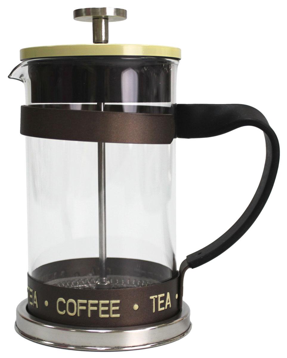 Френч-пресс Vetta Премиум, 600 мл850110Френч-пресс Vetta 600 мл изготовлен из нержавеющей стали и жаропрочного стекла. Фильтр из нержавеющей стали. Френч-пресс позволит быстро и просто приготовить свежий и ароматный кофе или чай.