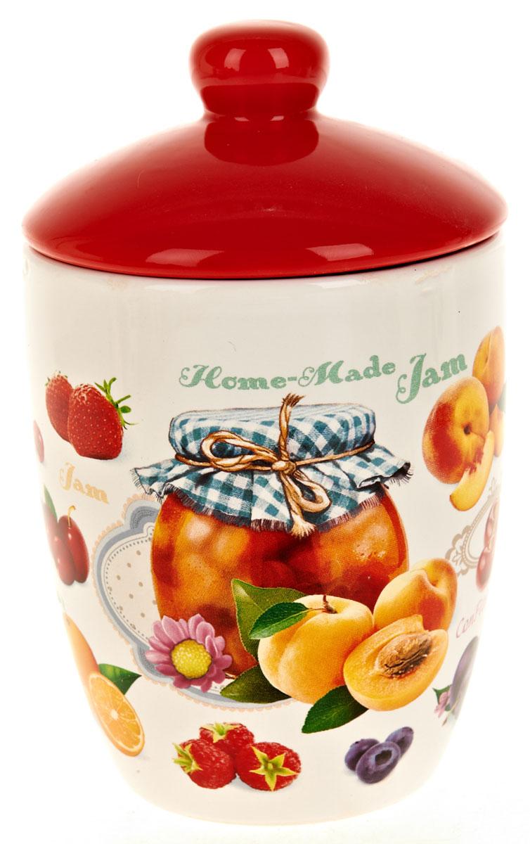 Банка для сыпучих продуктов Polystar Джем, 600 млL2430702Банка для сыпучих продуктов изготовлена из прочной доломитовой керамики, покрытой слоем сверкающей гладкой глазури. Изделие оформлено красочным изображением. Банка прекрасно подойдет для хранения различных сыпучих продуктов: чая, кофе, сахара, круп и многого другого. Изящная емкость не только поможет хранить разнообразные сыпучие продукты, но и стильно дополнит интерьер кухни. Изделие подходит для использования в посудомоечной машине и в холодильнике.