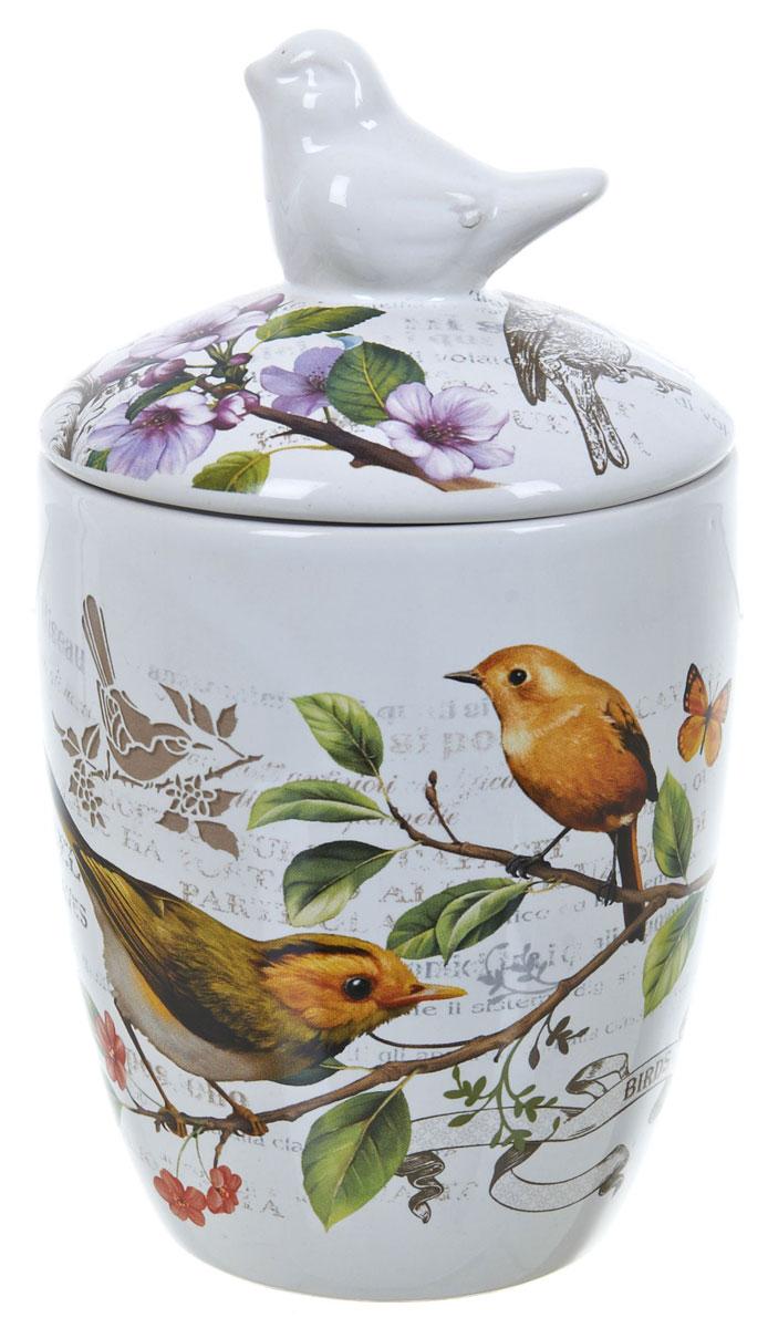 Банка для сыпучих продуктов Polystar Birds, 600 млL2430765Банка для сыпучих продуктов Birds. Изделие выполнено из прочной доломитовой керамики высокого качества. Гладкая и ровная глазурованная поверхность обеспечивает легкую очистку. Изделия декорированы красочным рисунком. Банка прекрасно подойдет для хранения различных сыпучих продуктов: специй, чая, кофе, сахара, круп и многого другого. Крышка плотно прилегает к стенкам емкости. Можно использовать в микроволновой печи, в холодильнике и посудомоечной машине.