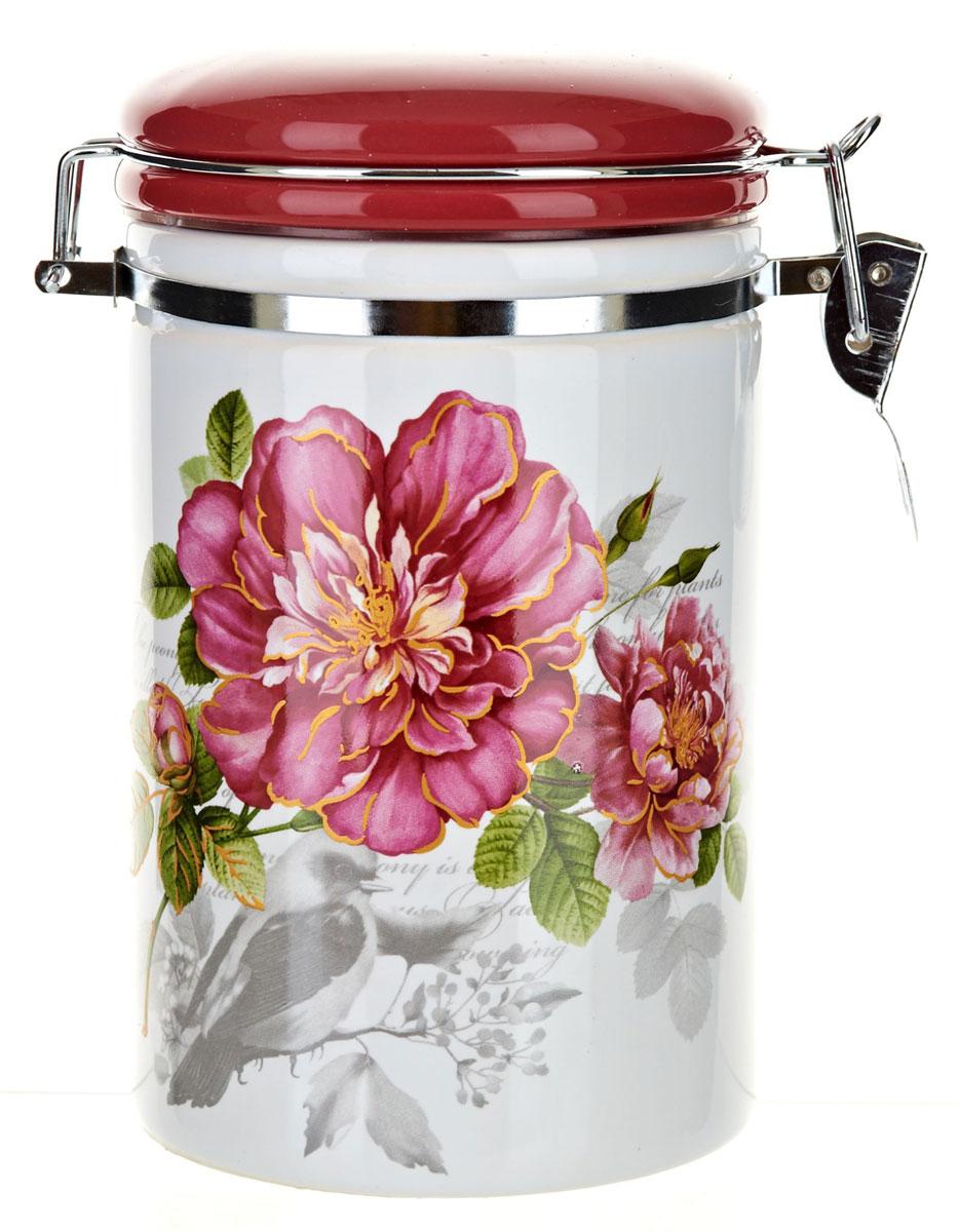 Банка для сыпучих продуктов Polystar Райский сад, 800 мл. L2520363L2520363Банка для сыпучих продуктов изготовлена из прочной доломитовой керамики, покрытой слоем сверкающей гладкой глазури. Изделие оформлено красочным изображением. Банка прекрасно подойдет для хранения различных сыпучих продуктов: чая, кофе, сахара, круп и многого другого. Благодаря силиконовой прослойке и бугельному замку, крышка герметично закрывается, что позволяет дольше сохранять продукты свежими. Изящная емкость не только поможет хранить разнообразные сыпучие продукты, но и стильно дополнит интерьер кухни. Изделие подходит для использования в посудомоечной машине и в холодильнике.