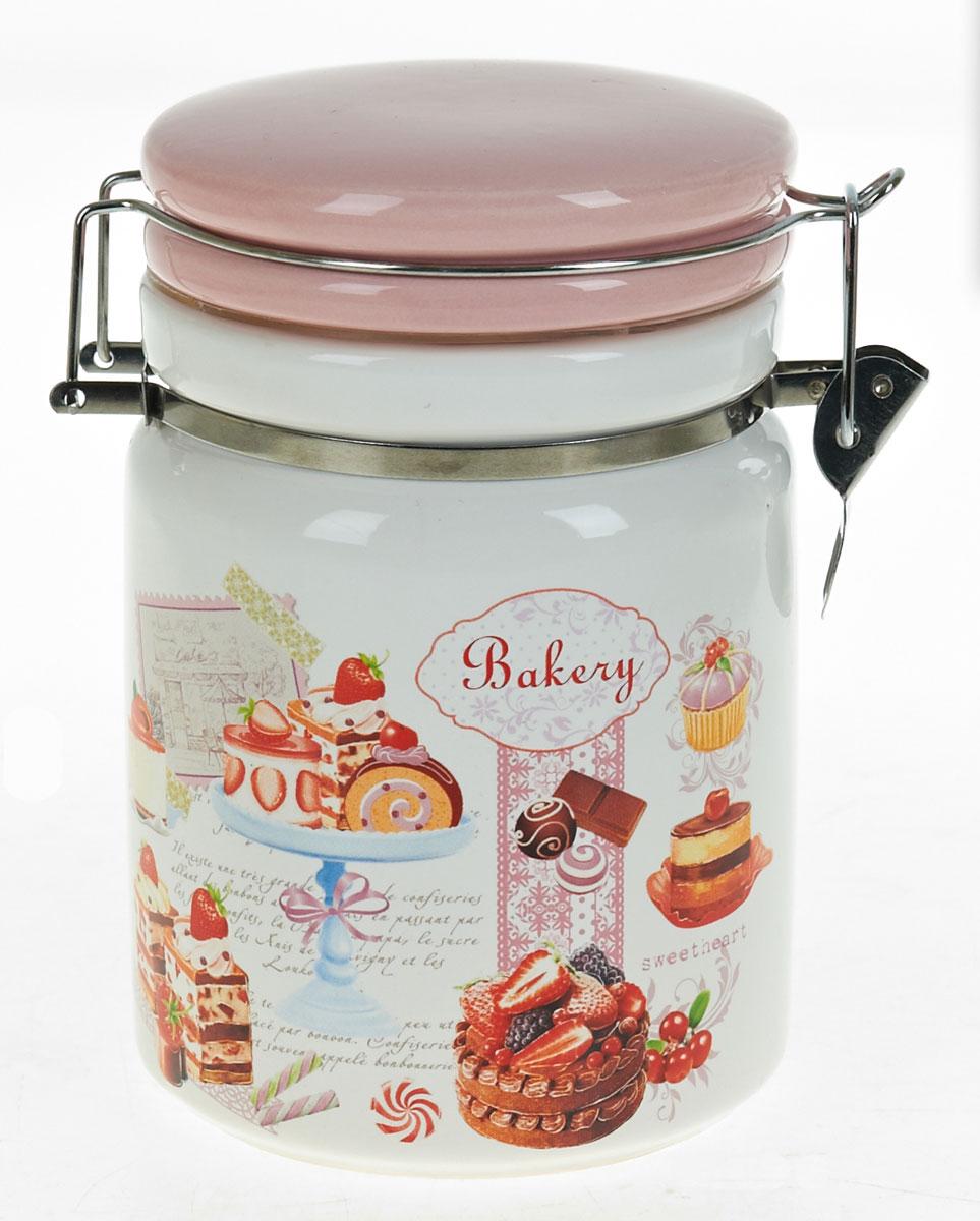 Банка для сыпучих продуктов Polystar Бисквит, 1 лL3170228Банка для сыпучих продуктов изготовлена из прочной доломитовой керамики, покрытой слоем сверкающей гладкой глазури. Изделие оформлено красочным изображением. Банка прекрасно подойдет для хранения различных сыпучих продуктов: чая, кофе, сахара, круп и многого другого. Благодаря силиконовой прослойке и бугельному замку, крышка герметично закрывается, что позволяет дольше сохранять продукты свежими. Изящная емкость не только поможет хранить разнообразные сыпучие продукты, но и стильно дополнит интерьер кухни. Изделие подходит для использования в посудомоечной машине и в холодильнике.