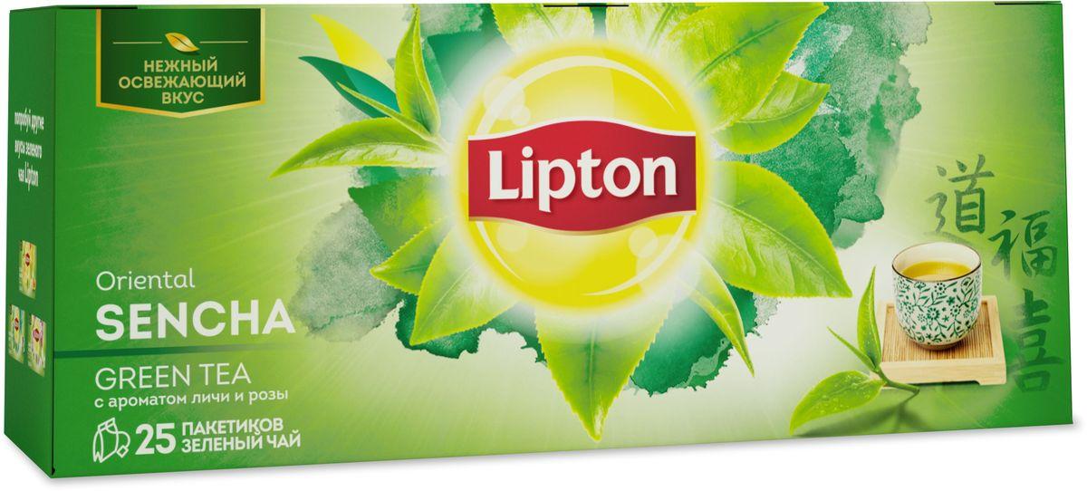 LiptonOriental Sencha зеленый чай в пакетиках с ароматом личи и розы, 25 шт67111528