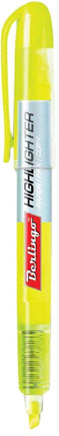 Berlingo Текстовыделитель цвет желтыйBTt_00205Текстовыделитель Berlingo с флуоресцентным желтым цветом на водной основе. Длина непрерывной линии составляет до 200 метров. Толщина линии от 1 до 4 мм. Имеет удобный прозрачный корпус, который помогает контролировать расход чернил. Цвет колпачка и торцевого элемента соответствует цвету чернил. Подходит для всех типов бумаги.