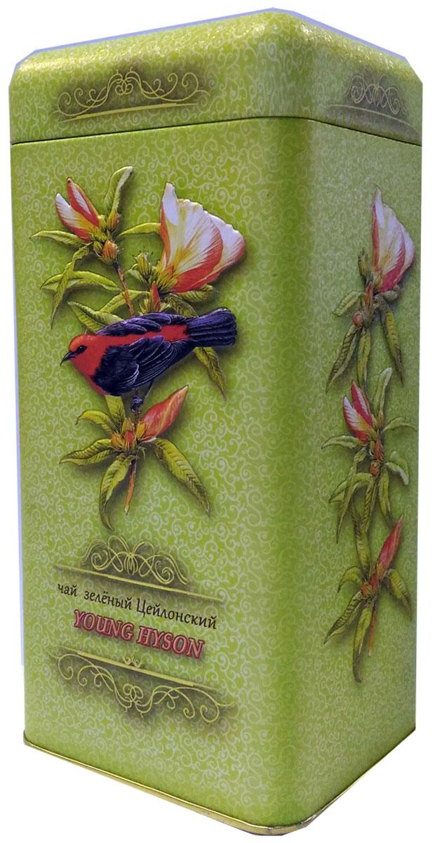 Птицы Цейлона Young Hyson чай черный листовой, 150 г4606471233020100% цейлонский листовой байховый зеленый чаЙ. Стандарт: Young Hyson. У чая светлый и прозрачный настой, а вкус нежный, и немного сладковатый. Знак в виде Льва с 17 пятнышками на шкуре - это гарантия Бюро Цейлонского Чая на соответствие чая высокому стандарту качества, установленному Правительством и упакованному только в пределах Шри-Ланки. Внутри банки 10 наклеек с названиями сыпучих продуктов для повторного использования банки в хозяйстве.