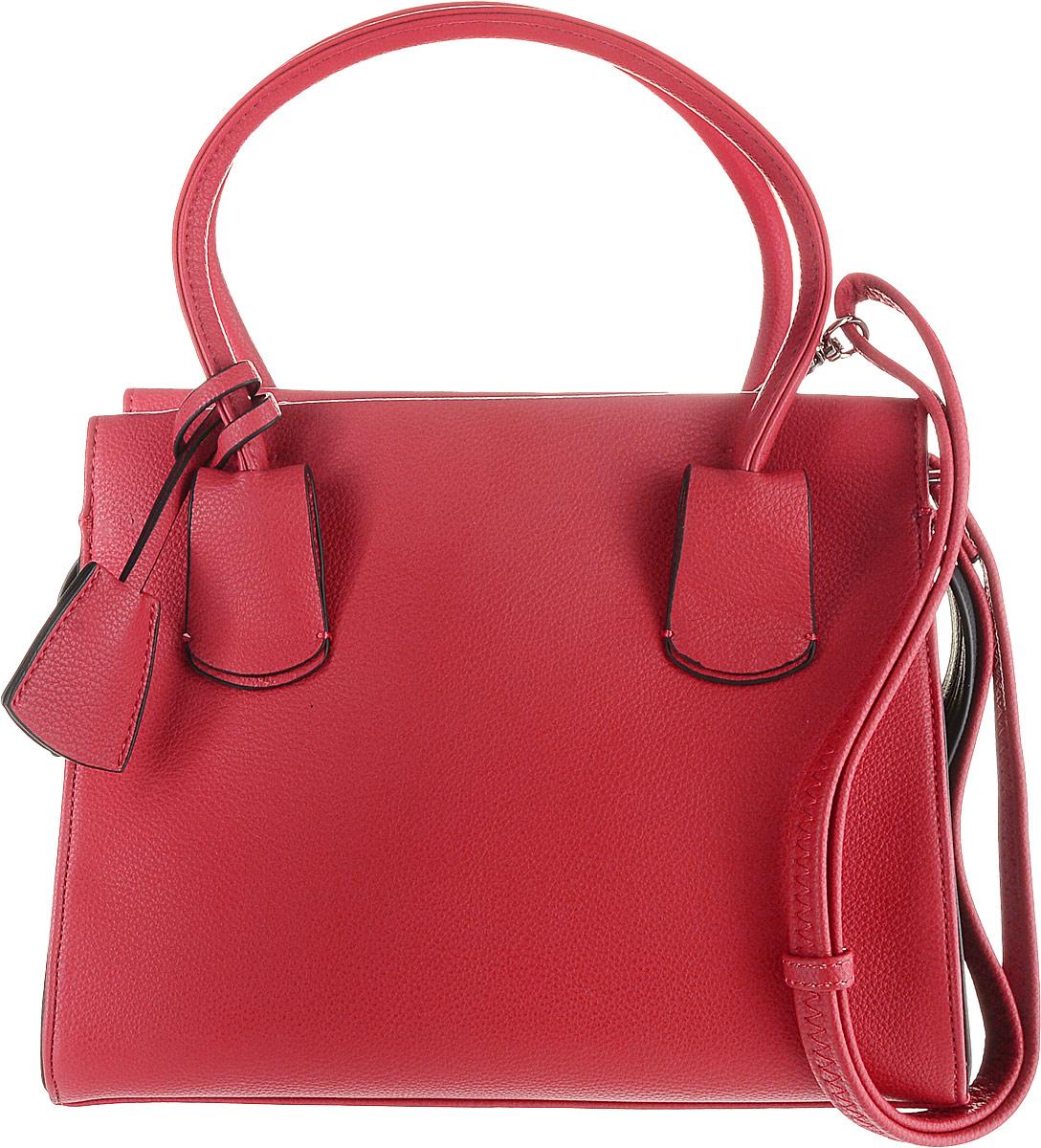 Сумка женская Flioraj, цвет: красный. 00053264-1700053264-17Элегантная классическая женская сумка Flioraj выполнена из высококачественной экокожи. Изделие содержит одно отделение и закрывается на застежку- молнию. Внутри расположены два накладных кармана, врезной карман на застежке-молнии. Задняя сторона сумки дополнена врезным карманом на молнии. Сумка оснащена двумя удобными ручками средней высоты. Дно сумки дополнено металлическими ножками. В комплект входит съемный плечевой ремень, который регулируется по длине.