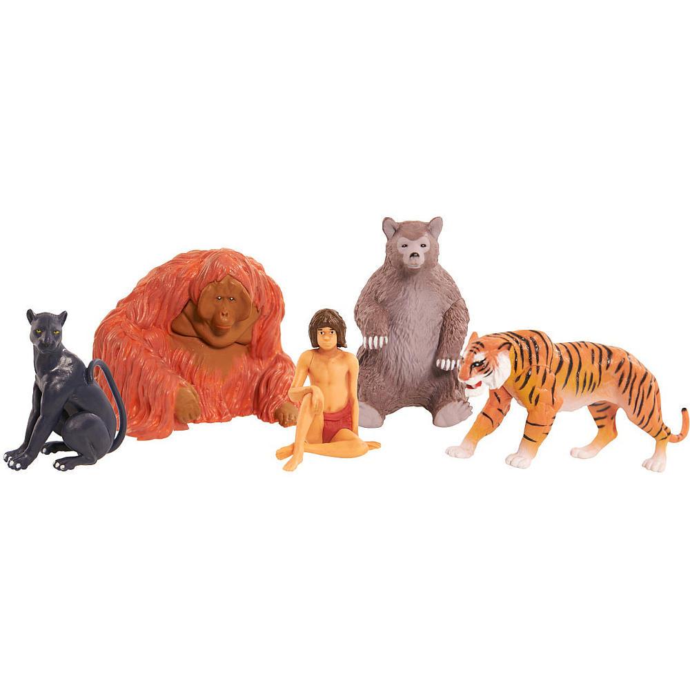 Jungle Book Набор фигурок 5 шт23210Набор фигурок Jungle Book включает в себя 5 фигурок. Каждая из них изображает одного из персонажей фильма Книга Джунглей, снятого по одноименному произведению Киплинга. Фильм повествует о мальчике Маугли, случайно попавшего в дикие джунгли и выросшего там, в окружении диких животных. В наборе представлены фигурки храброго мальчика Маугли, добродушного медведя Балу, обезьяны Короля Луи, грозного тигра Шерхана, а также грациозной пантеры Багиры. Такие фигурки могут стать отличным подарком для каждого поклонника Книги Джунглей, с ними ребенок сможет затеять увлекательную сюжетно-ролевую игру и воспроизвести любимую сцену из фильма, либо придумать собственную.