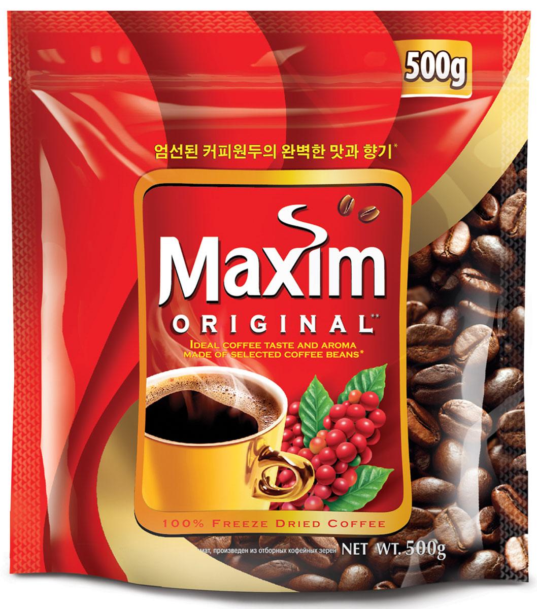 Maxim кофе натуральный растворимый сублимированный, 500 г4251187Maxim – это сублимированный кофе высокого качества по доступной цене. Это бренд #2 в Сибири и на Дальнем Востоке. Ведет свою историю с 1971 года. Представлен двумя вкусами – Original и Mild. Maxim Original - это идеально сбалансированный вкус и притягательный аромат, приготовлен из отборных кофейных зёрен.