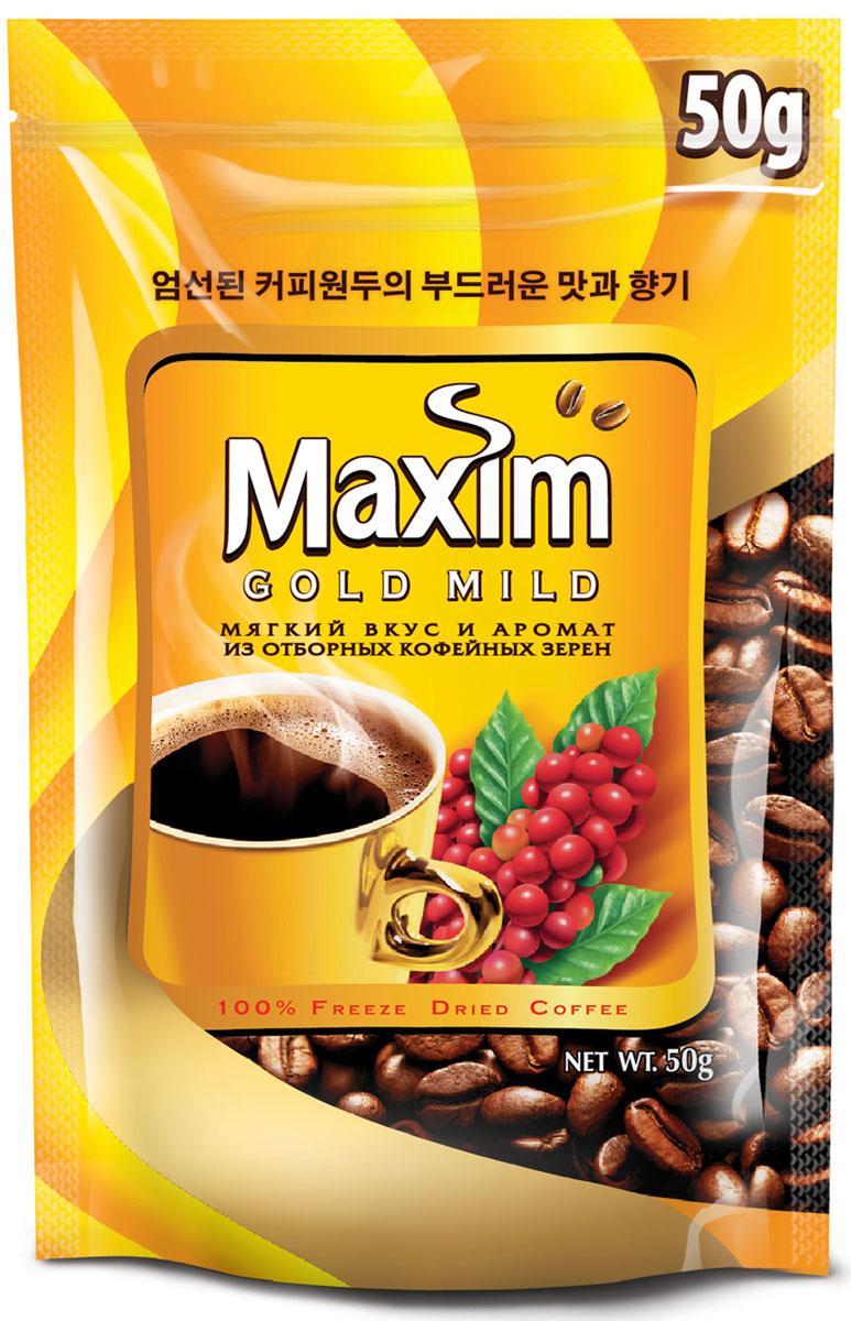 Maxim Gold Mild кофе натуральный растворимый сублимированный, 150 г4251189Maxim – это сублимированный кофе высокого качества по доступной цене. Это бренд #2 в Сибири и на Дальнем Востоке. Ведет свою историю с 1971 года. Представлен двумя вкусами – Original и Mild. Maxim Gold Mild – это мягкий вкус с оттенками солода и тонкий аромат.