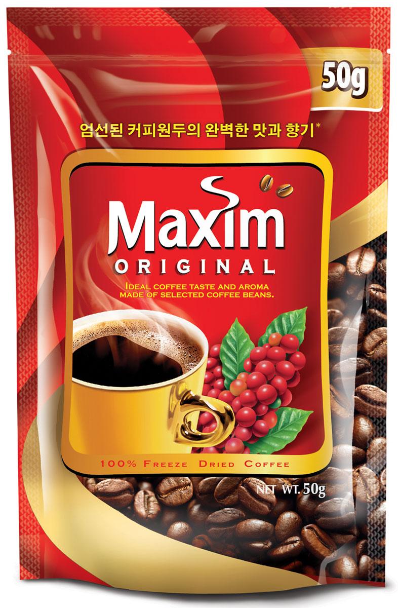 Maxim кофе натуральный растворимый сублимированный, 50 г4251200Maxim – это сублимированный кофе высокого качества по доступной цене. Это бренд №2 в Сибири и на Дальнем Востоке. Ведет свою историю с 1971 года. Представлен двумя вкусами – Original и Mild. Maxim Original - это идеально сбалансированный вкус и притягательный аромат, приготовлен из отборных кофейных зёрен.