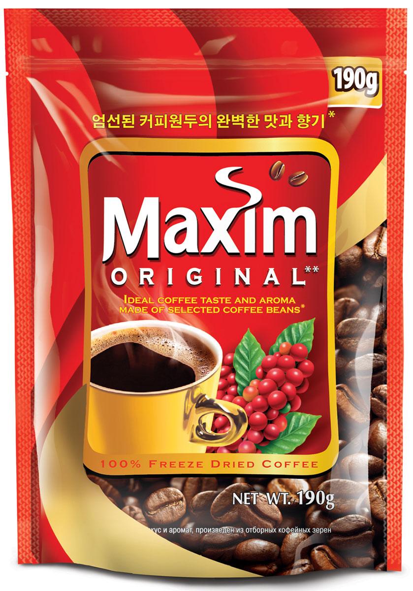 Maxim кофе натуральный растворимый сублимированный, 190 г4251203Maxim – это сублимированный кофе высокого качества по доступной цене. Это бренд №2 в Сибири и на Дальнем Востоке. Ведет свою историю с 1971 года. Представлен двумя вкусами – Original и Mild. Maxim Original - это идеально сбалансированный вкус и притягательный аромат, приготовлен из отборных кофейных зёрен.