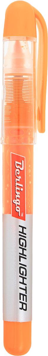 Berlingo Текстовыделитель цвет оранжевыйBTt_00213Текстовыделитель Berlingo - это незаменимый маркер с флуоресцентными жидкими чернилами на водной основе. Длина непрерывной линии до 200 метров. Толщина линии от 1 до 4 мм. Удобный тонкий корпус. Прозрачный корпус помогает контролировать расход чернил. Цвет колпачка и торцевого элемента соответствует цвету чернил.