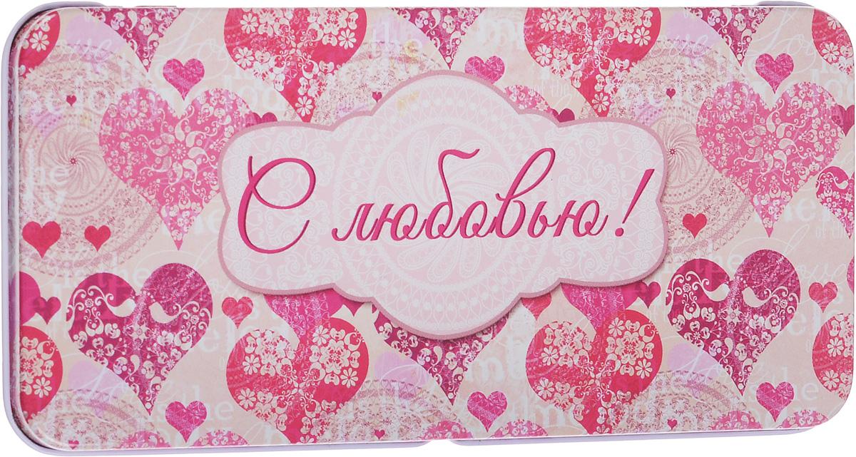 Коробка подарочная Феникс-Презент Сердечки, 16,6 х 7,6 х 1 см43685Подарочная коробка Феникс-Презент Сердечки выполнена из черного окрашенного металла и украшена яркой картинкой, соответствующей событию, для которого предназначена. Подарочная коробка для денег - это наилучшее решение, если вы хотите порадовать ваших близких и создать праздничное настроение, ведь денежный подарок, преподнесенный в оригинальной коробке, всегда будет эффектным и запоминающимся.