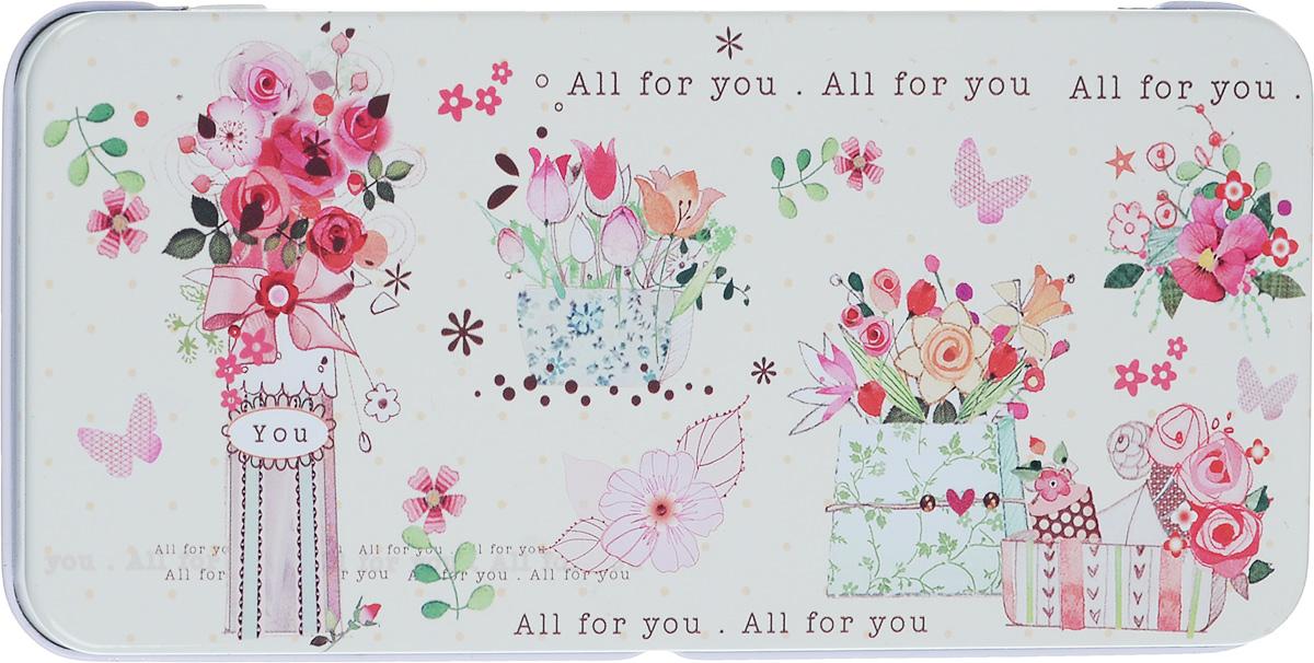 Коробка подарочная Феникс-Презент Цветы, 16,6 х 7,6 х 1 см43666Подарочная коробка Феникс-Презент Эффект бабочки выполнена из черного окрашенного металла и украшена яркой картинкой, соответствующей событию, для которого предназначена. Подарочная коробка для денег - это наилучшее решение, если вы хотите порадовать ваших близких и создать праздничное настроение, ведь денежный подарок, преподнесенный в оригинальной упаковке, всегда будет эффектным и запоминающимся.