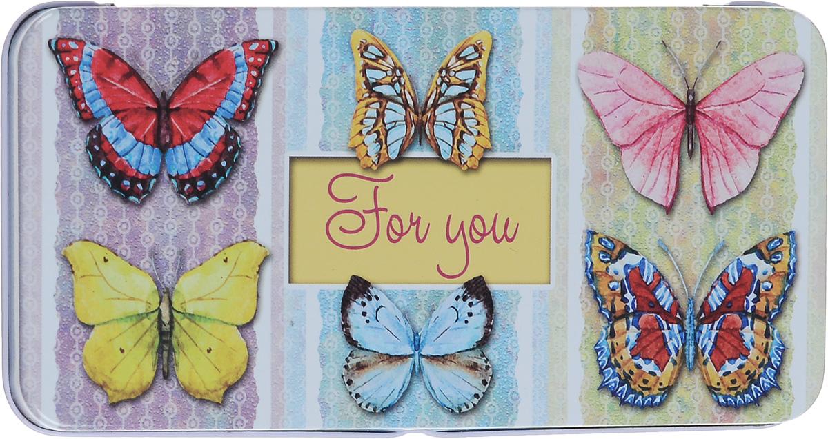 Коробка подарочная Феникс-Презент Эффект бабочки, 16,6 х 7,6 х 1 см43670Подарочная коробка Феникс-Презент Эффект бабочки выполнена из черного окрашенного металла и украшена яркой картинкой, соответствующей событию, для которого предназначена. Подарочная коробка для денег - это наилучшее решение, если вы хотите порадовать ваших близких и создать праздничное настроение, ведь денежный подарок, преподнесенный в оригинальной упаковке, всегда будет эффектным и запоминающимся.