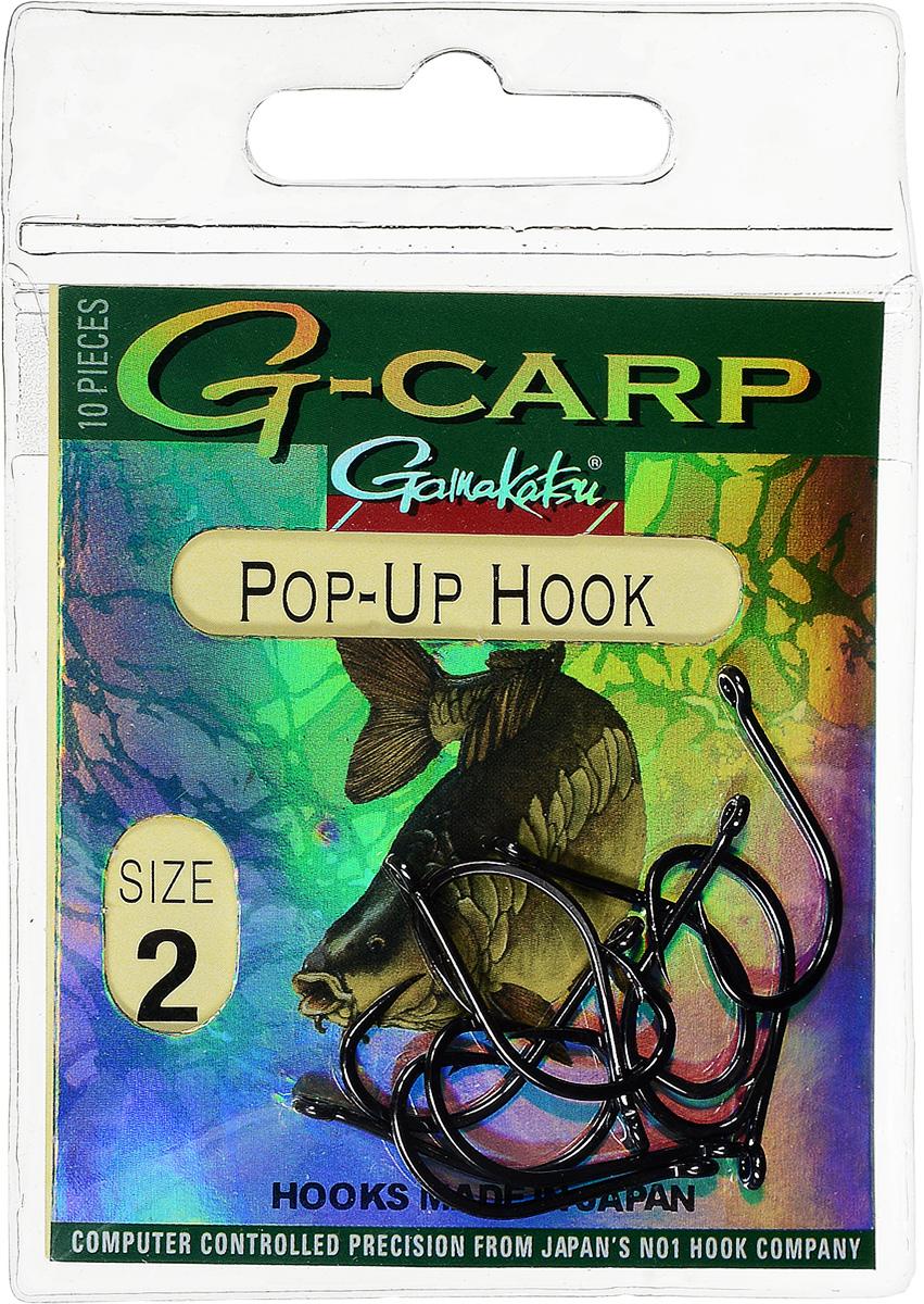 """Крючок рыболовный Gamakatsu """"G-Carp. Pop-Up Hook"""", №2, 10 шт 14682600200"""