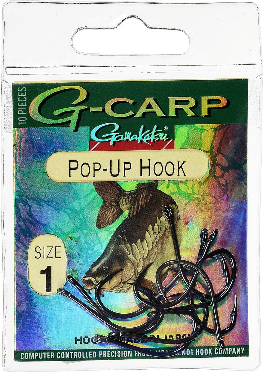 Крючок рыболовный Gamakatsu G-Carp. Pop-Up Hook, №1, 10 шт14682600100Gamakatsu G-Carp. Pop-Up Hook - легкий прочный крючок универсальной формы, предназначенный для создания различных схем волосяной оснастки c Pop-Up наживками. Крючок содержит жало с углублением, кованое цевье, джиг- крючок, круглое ушко. На сегодняшний день рыболовные крючки Gamakatsu являются лучшими по качеству в Японии и Европе. Все крючки выполняются из очень прочной стальной проволоки. Жала крючков имеют химическую заточку. Вид крепления: ушко. Размер крючка: №1.