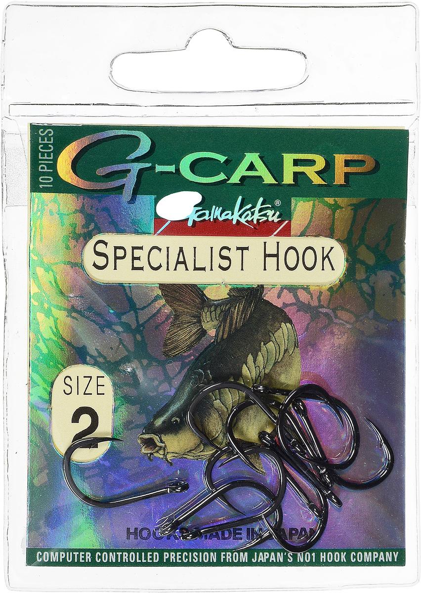 Крючок рыболовный Gamakatsu G-Carp. Specialist Hook, №2, 10 шт14682800200Gamakatsu G-Carp. Specialist Hook - карповый крючок с жалом с углублением, кованым прочным толстым цевьем, круглым ушком и крючком-джигом. На сегодняшний день рыболовные крючки Gamakatsu являются лучшими по качеству в Японии и Европе. Все крючки выполняются из очень прочной стальной проволоки. Жала крючков имеют химическую заточку. Вид крепления: ушко. Размер крючка: №2.