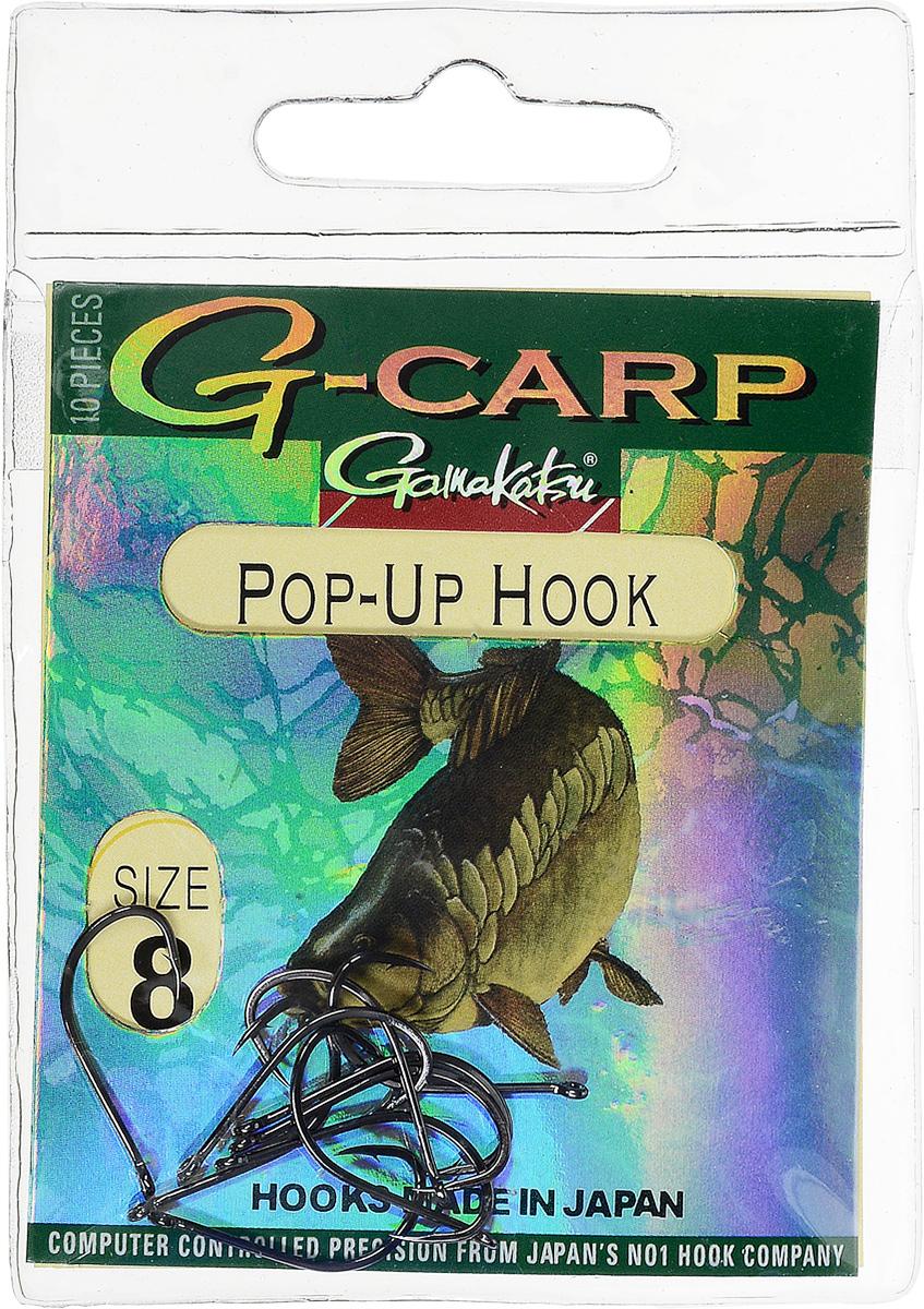 Крючок рыболовный Gamakatsu G-Carp. Pop-Up Hook, №8, 10 шт14682600800Gamakatsu G-Carp. Pop-Up Hook - легкий прочный крючок универсальной формы, предназначенный для создания различных схем волосяной оснастки c Pop-Up наживками. Крючок содержит жало с углублением, кованое цевье, джиг- крючок, круглое ушко. На сегодняшний день рыболовные крючки Gamakatsu являются лучшими по качеству в Японии и Европе. Все крючки выполняются из очень прочной стальной проволоки. Жала крючков имеют химическую заточку. Вид крепления: ушко. Размер крючка: №8.