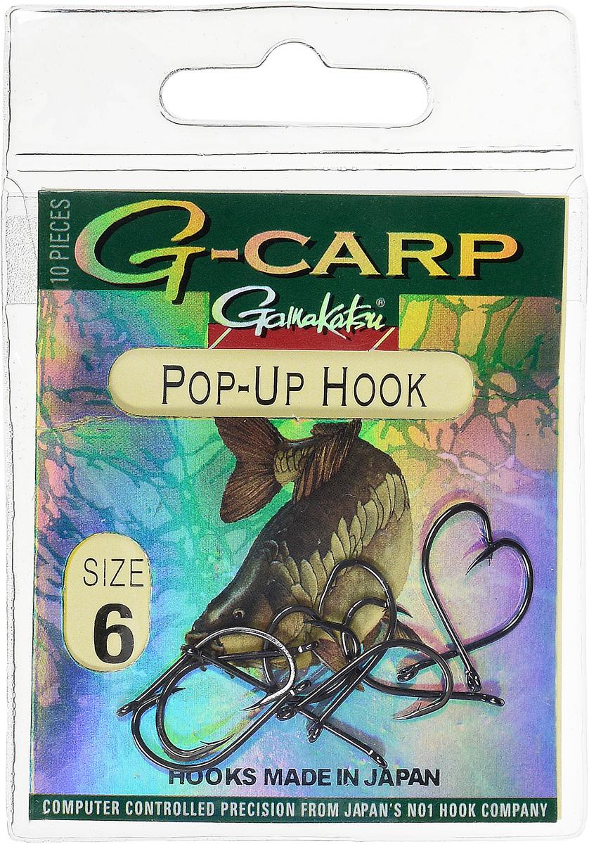 Крючок рыболовный Gamakatsu G-Carp. Pop-Up Hook, №6, 10 шт14682600600Gamakatsu G-Carp. Pop-Up Hook - легкий прочный крючок универсальной формы, предназначенный для создания различных схем волосяной оснастки c Pop-Up наживками. Крючок содержит жало с углублением, кованое цевье, джиг- крючок, круглое ушко. На сегодняшний день рыболовные крючки Gamakatsu являются лучшими по качеству в Японии и Европе. Все крючки выполняются из очень прочной стальной проволоки. Жала крючков имеют химическую заточку. Вид крепления: ушко. Размер крючка: №6.
