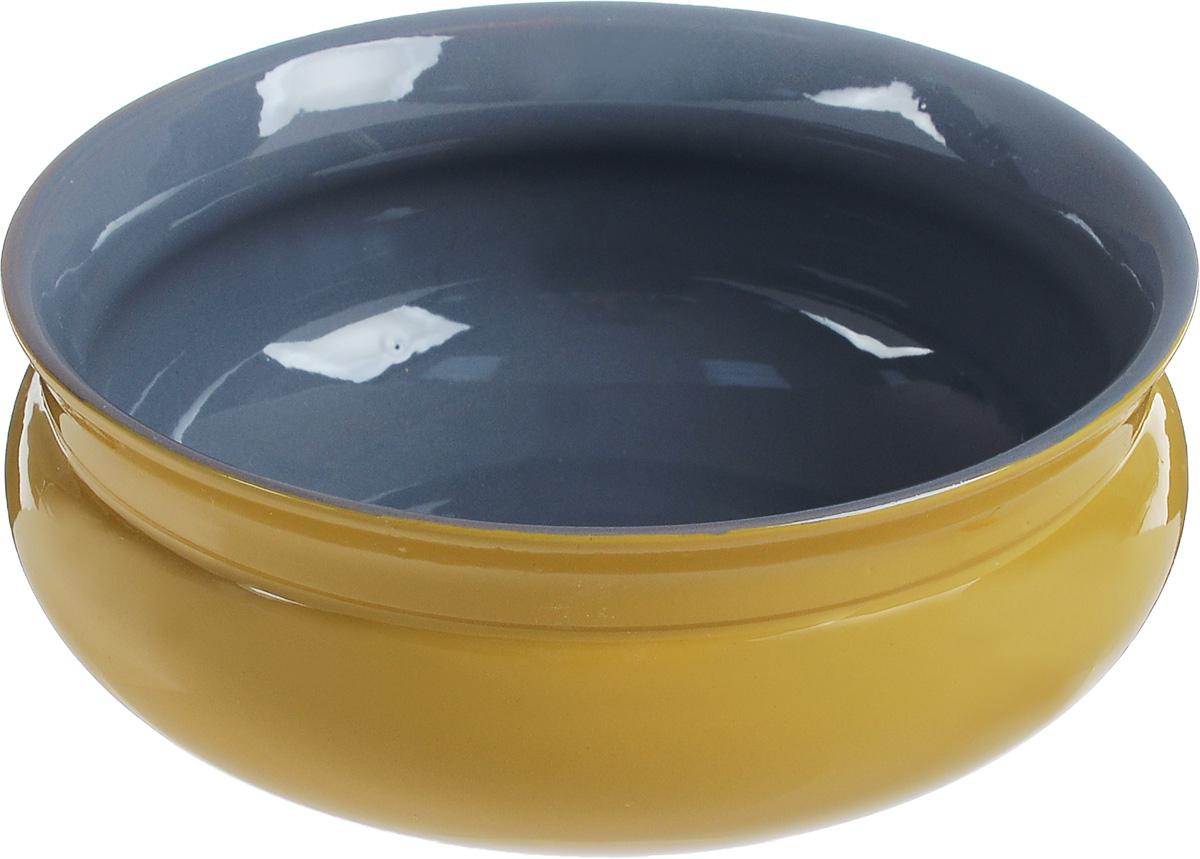 Тарелка глубокая Борисовская керамика Скифская, цвет: желтый, серый, 800 млРАД14457937_желто/серыйТарелка глубокая Борисовская керамика Скифская, цвет: желтый, серый, 800 мл
