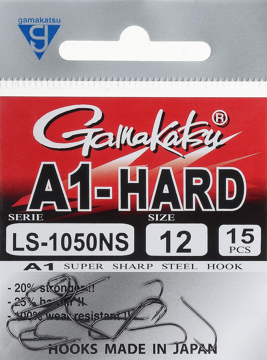 Крючок рыболовный Gamakatsu A1 LS-1050NS, размер 12, 15 шт14764501200Крючок Gamakatsu A1 LS-1050NS подходит для ловли рыбы. Изделие изготовлено из высококачественной стали. Крючок долго остается острым. Жало крючка отогнуто в бок. Крючок достаточно универсален и может применяться в разных видах ловли. Подходит для растительных и животных насадок. Крючок прекрасно справляется с любой рыбой как на море, так и на спокойной воде. Размер: 12. Количество: 15 шт. Вид головки: лопатка.