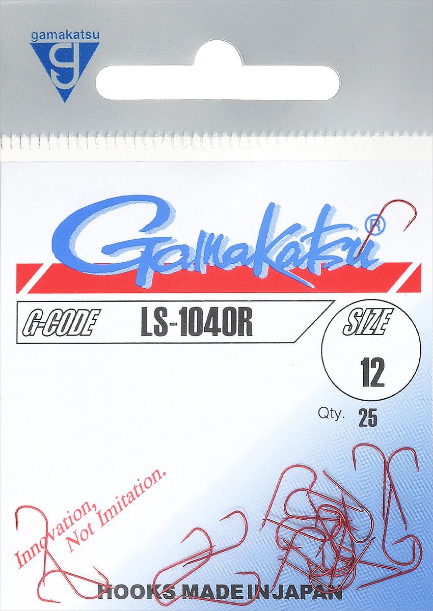 Крючок рыболовный Gamakatsu LS-1040R, размер 12, 25 шт14651601200Крючок Gamakatsu LS-1040R прекрасно подойдет для ловли мелкой рыбы. Изделие изготовлено из высококачественной стали и окрашено в красный цвет. Крючок идеально справляется с любой рыбой как на море, так и на спокойной воде. Размер: 12. Количество: 25 шт. Вид головки: лопатка.