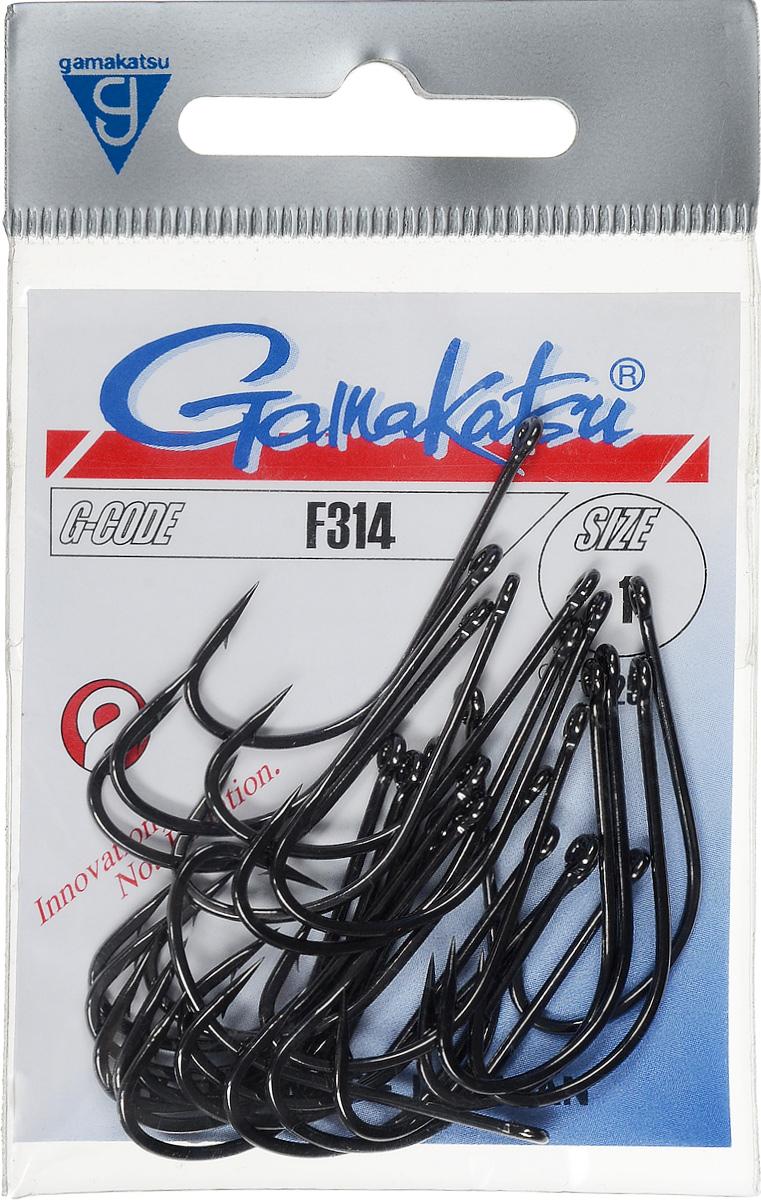 Крючок рыболовный Gamakatsu F314, размер 1, 25 шт14665500100Крючок Gamakatsu F314 прекрасно подойдет для ловли щуки и окуня. Изделие изготовлено из высококачественной и прочной стали. Подходит для растительных и животных насадок. Крючок предназначен для вязания плавающих насадок. Крючок идеально справляется с любой рыбой, как на море, так и на спокойной воде. Размер: 1. Количество: 25 шт. Вид головки: кольцо.