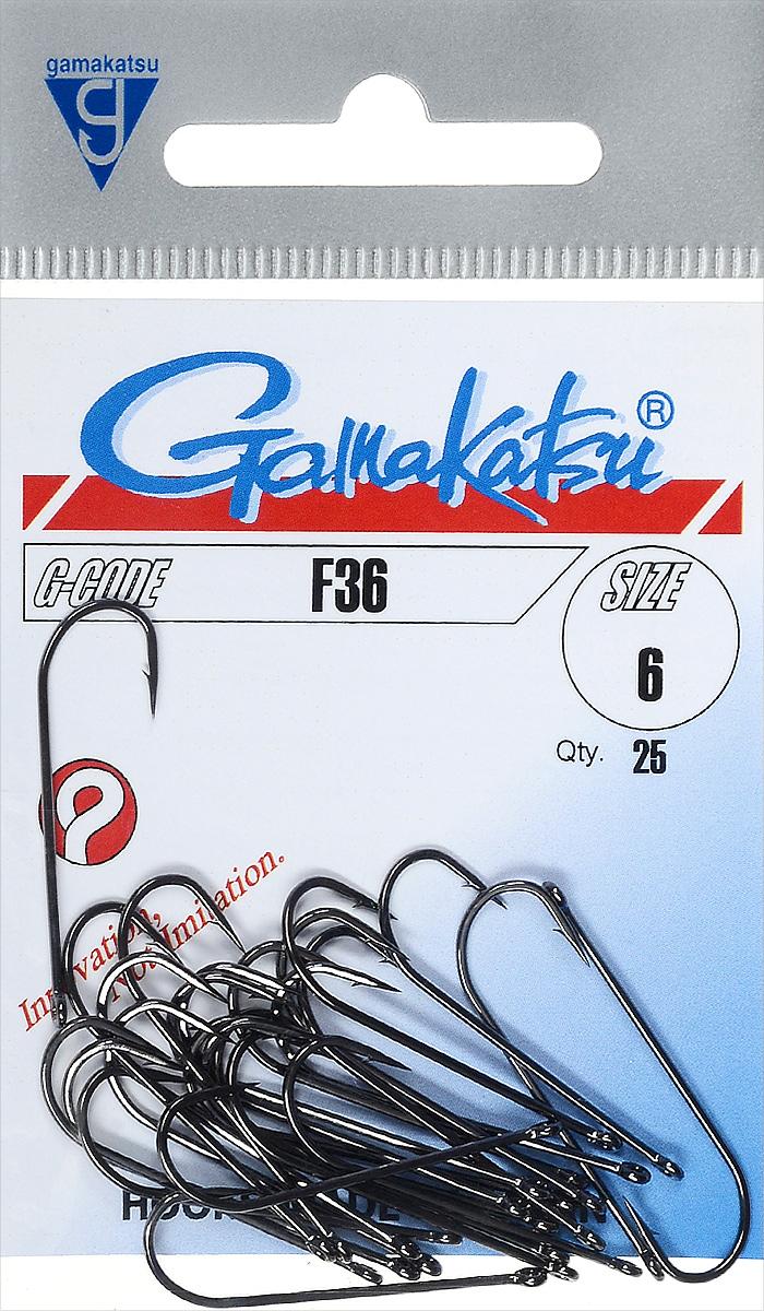 Крючок рыболовный Gamakatsu F-36, размер 6, 25 шт14665600600Крючок Gamakatsu F-36 прекрасно подойдет для ловли рыбы. Изделие изготовлено из высококачественной стали и имеет длинное цевье. Данная модель хорошо подходит для вязания мушек. Крючок идеально справляется с любой рыбой, как на море, так и на спокойной воде. Размер: 6. Количество: 25 шт. Вид головки: кольцо.