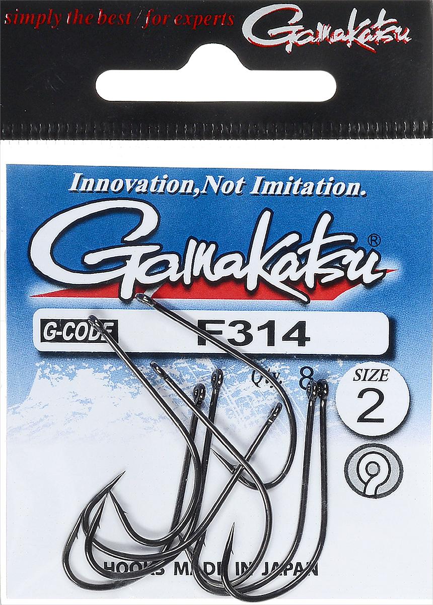 Крючок рыболовный Gamakatsu F314, размер 2, 8 шт14795300200Крючок Gamakatsu F314 предназначен для ловли крупных карпов. Изделие изготовлено из высококачественной и прочной стали. Подходит для растительных и животных насадок. Крючок прекрасно справляется с любой рыбой как на море, так и на спокойной воде. Размер: 2. Количество: 8 шт. Вид головки: кольцо.